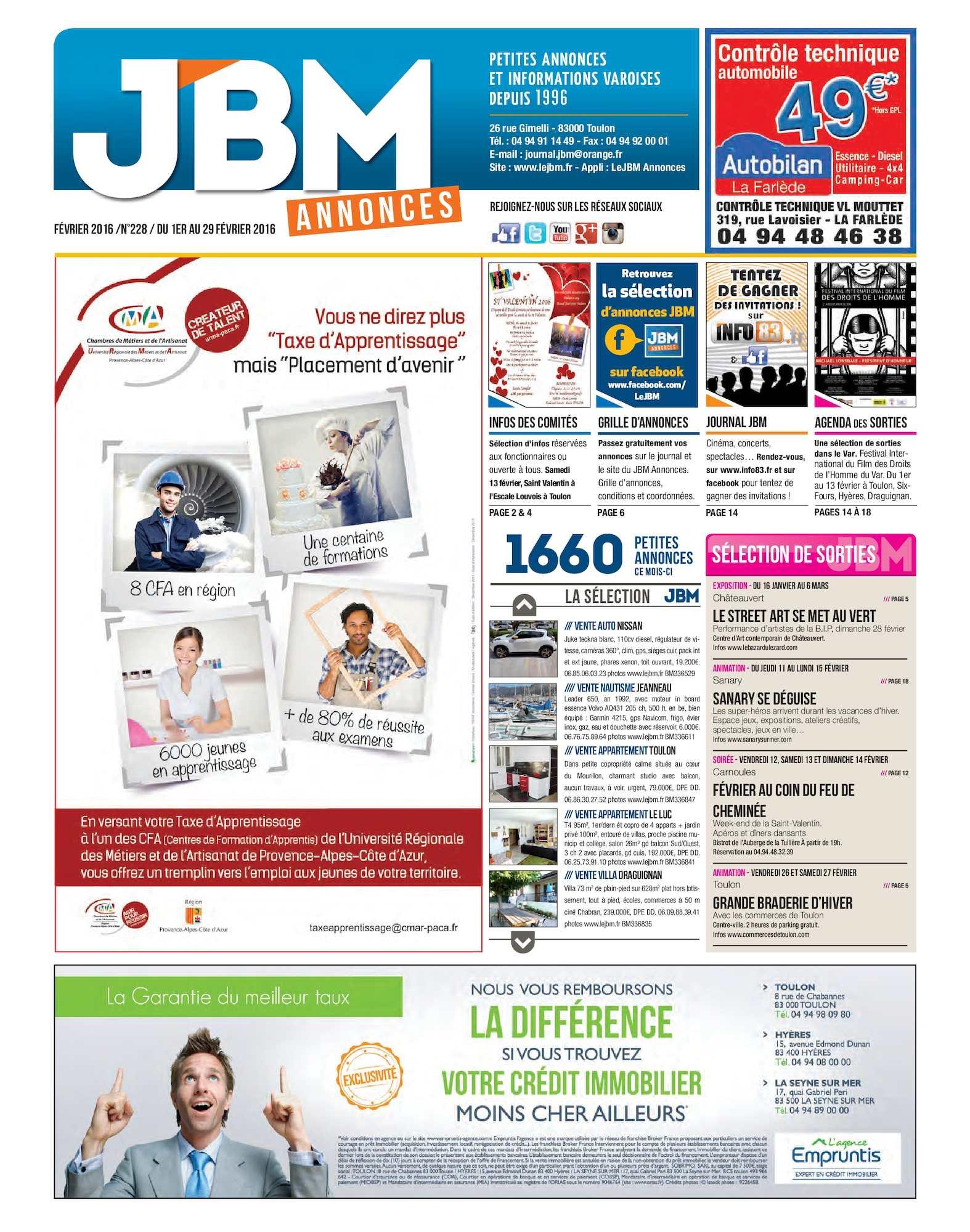 JBM 2016 Journal Février Annonces n°228 Calaméo eWoCBxrd