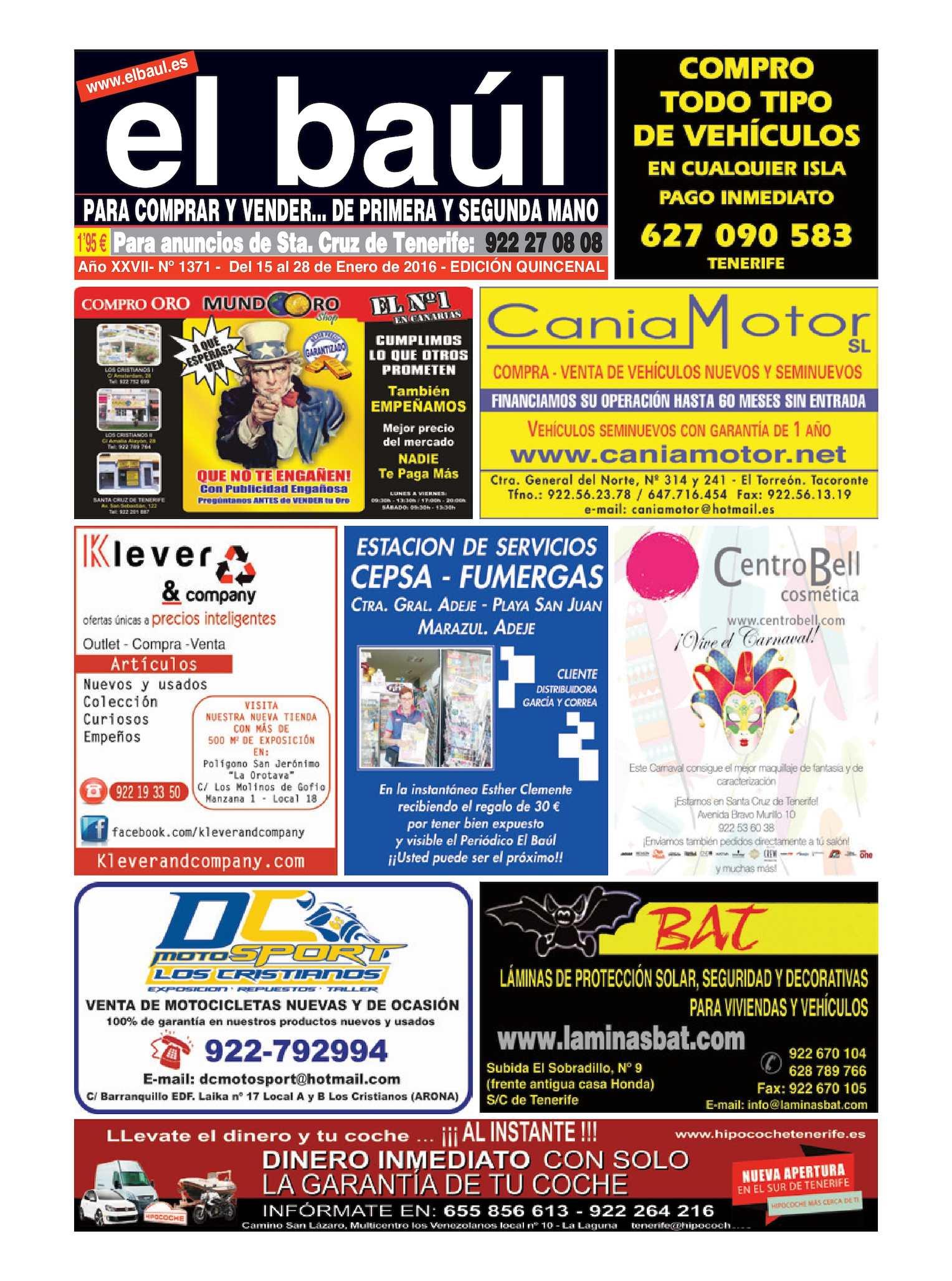 Calaméo - 15 al 28 de Enero 2016 Periódico El Baúl segunda mano edición  Tenerife 74a388b731c
