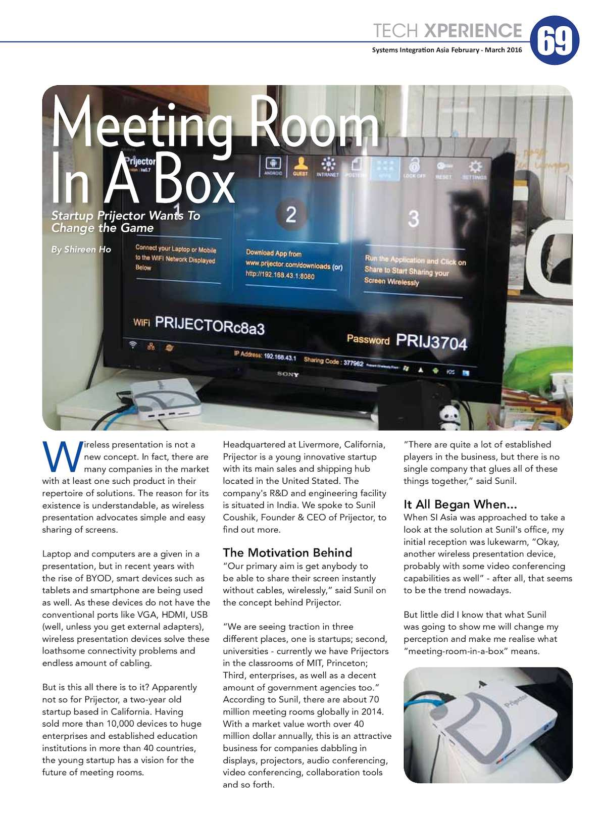 Calaméo - Prijector - Meeting Room in a Device