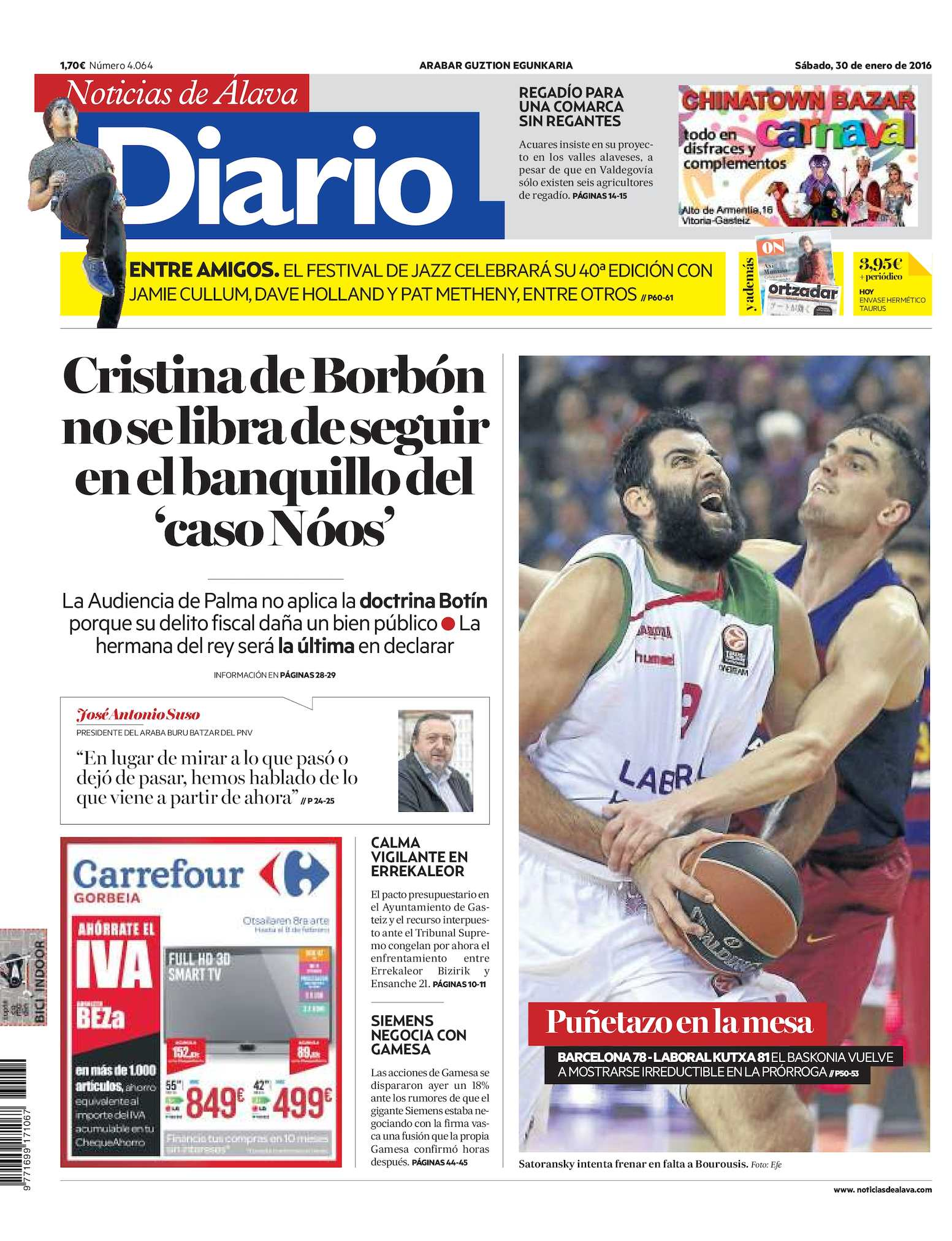 the best attitude 221f5 468f6 Calaméo - Diario de Noticias de Álava 20160130