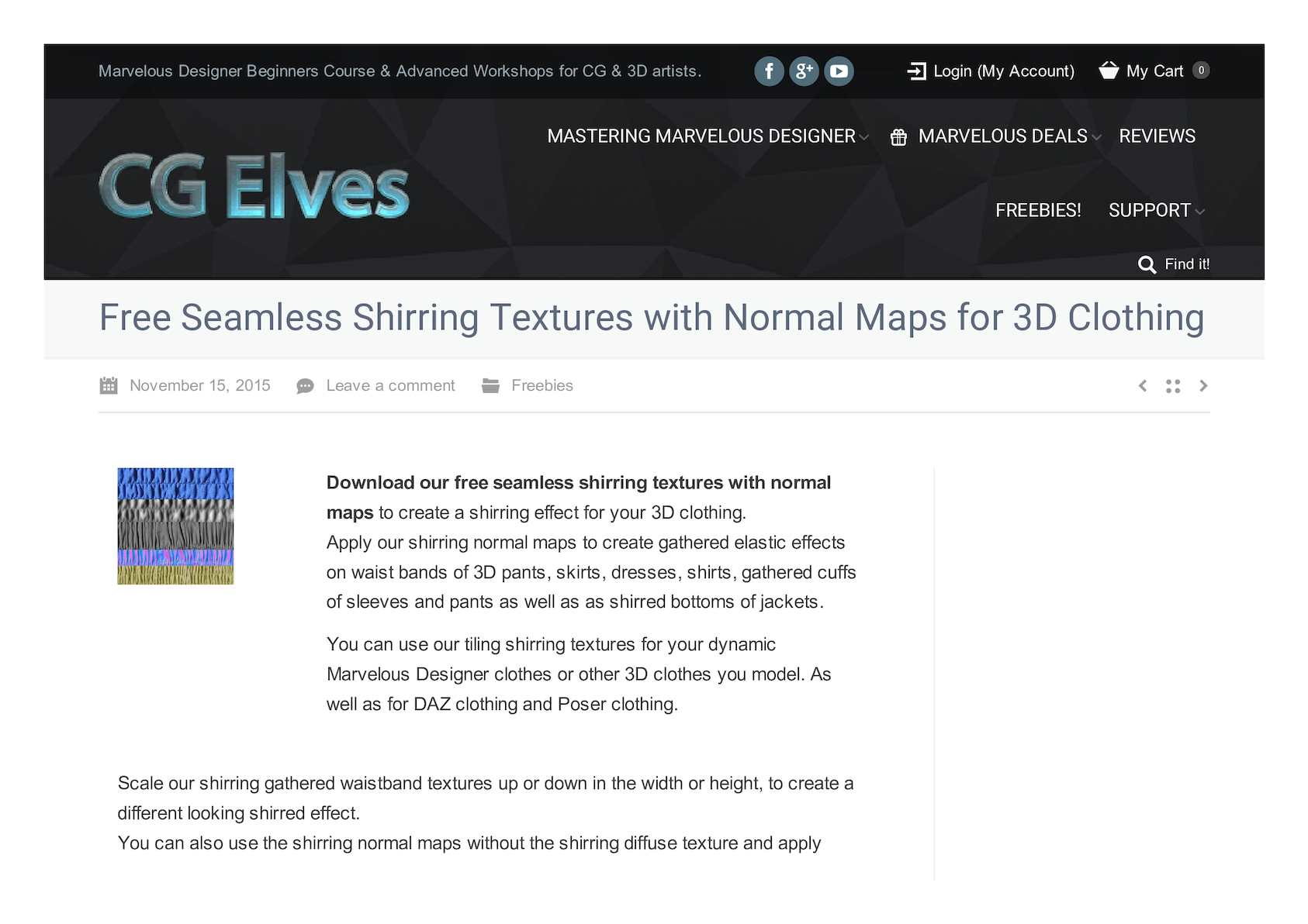 Calaméo - Free Seamless Shirring Textures With Normal Maps