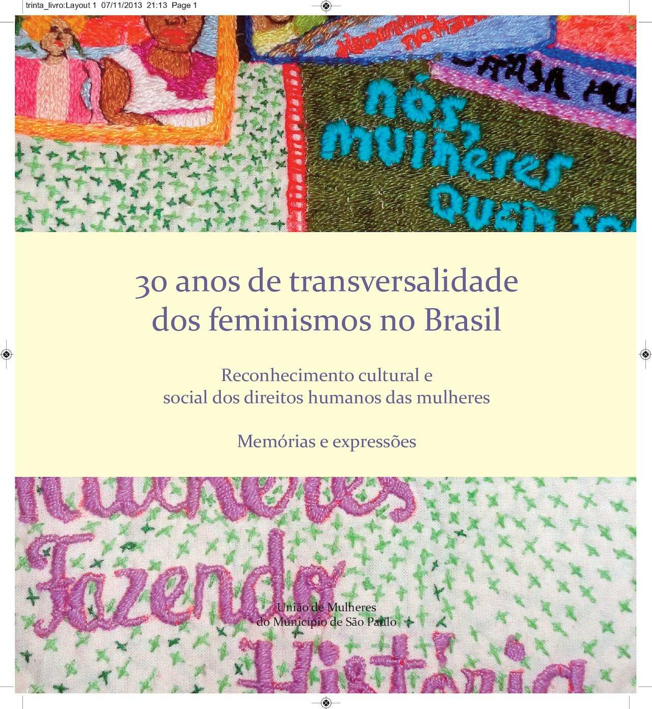 Amelinha Lilith calam�o - livro 30 anos de transversalidade