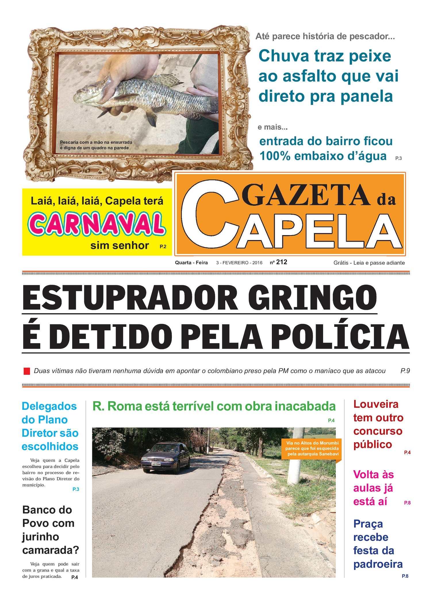 Calaméo - Gazeta Da Capela 03 De Fevereiro 2016 Edic 212 2b160a3b00c07