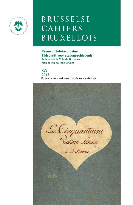 Calaméo Brusselse Cahiers Bruxellois 2013