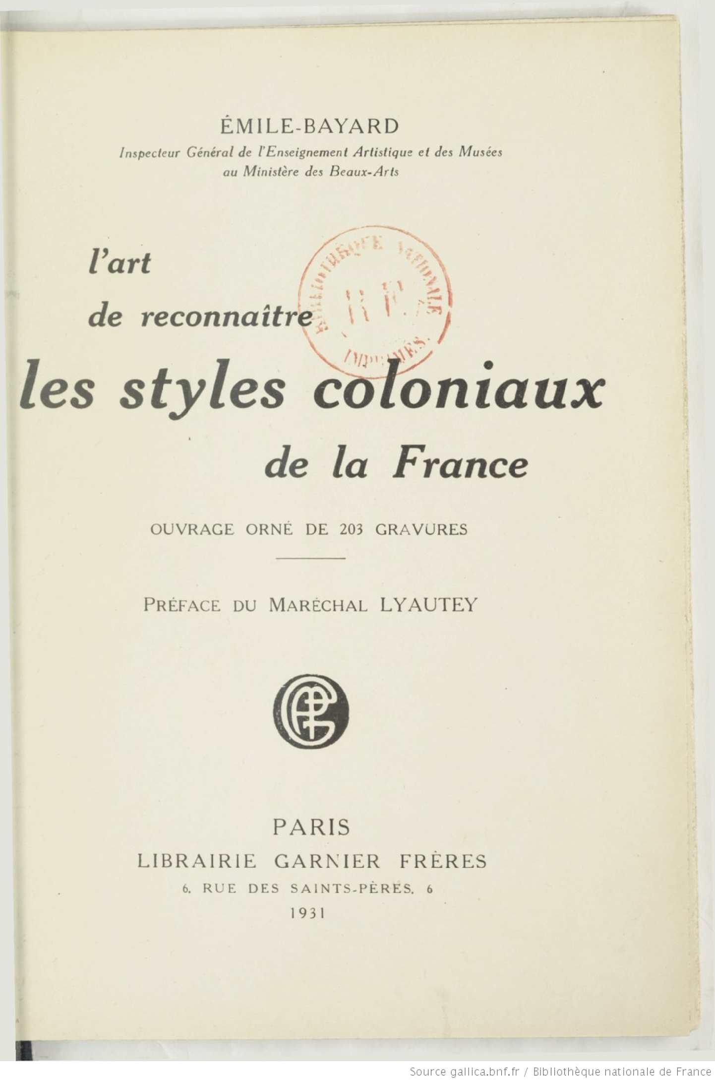 Calaméo Lart De Reconnaitre Les Styles Coloniaux De La