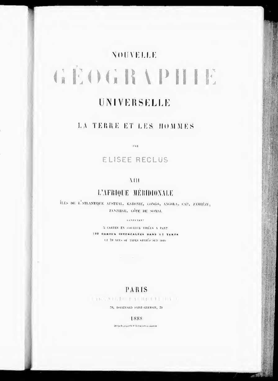 Calaméo Nouvelle Géographie Universelle Par élisée Reclus