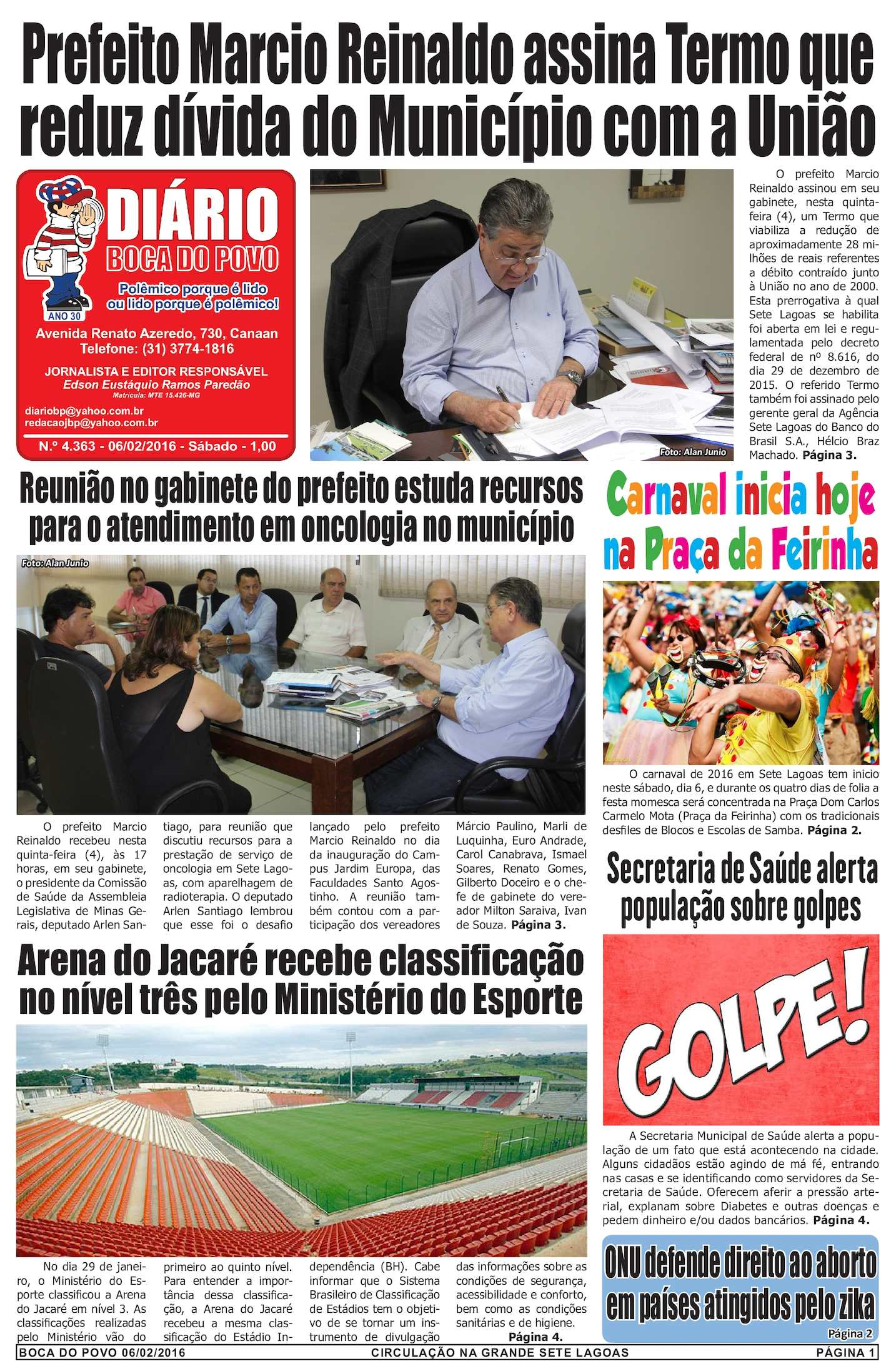 ... 8f34369b1b3 Calaméo - Jornal Diário Boca do Povo de sábado dia 06 de  fevereiro de 2016 ... 13cef27519737
