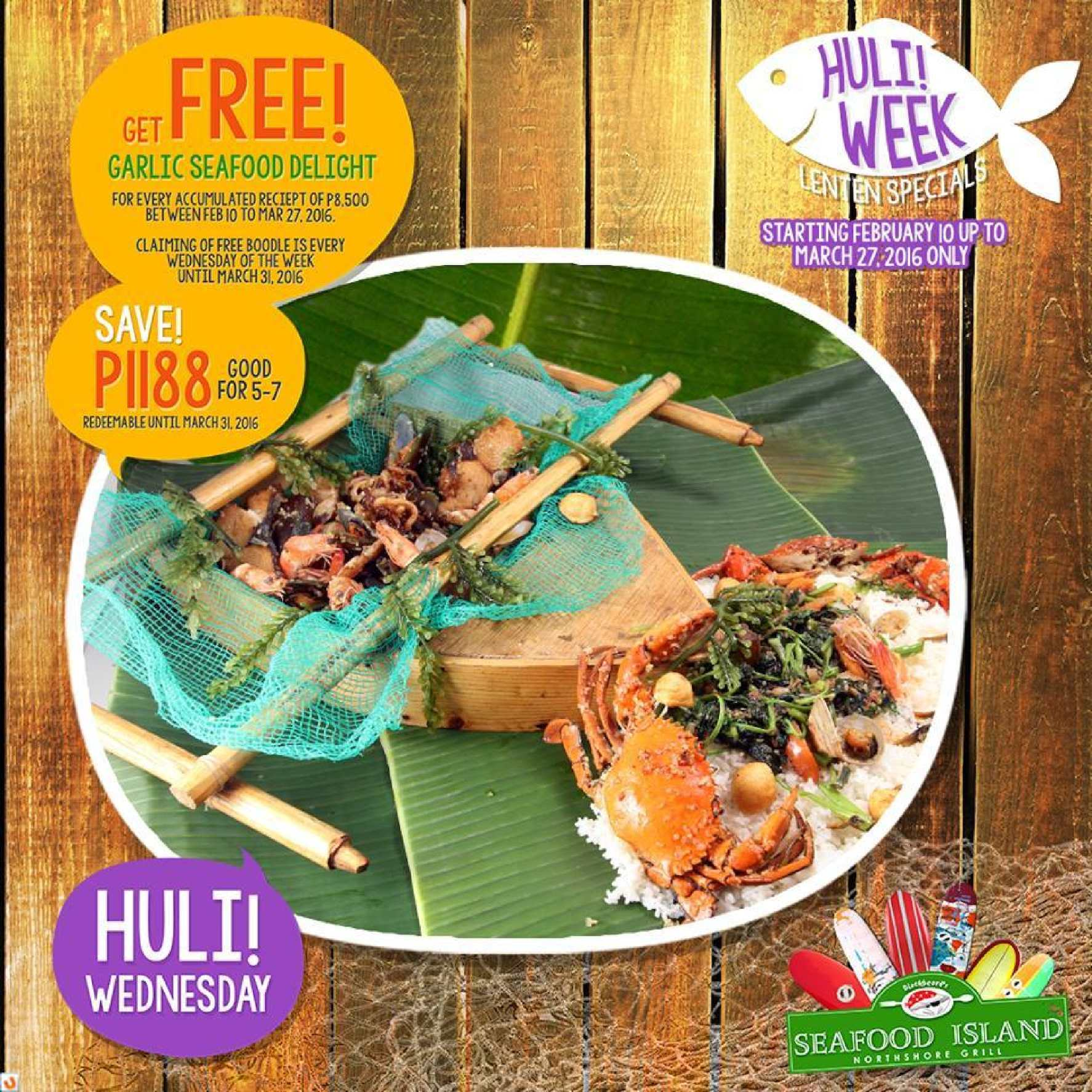 Free Garlic Seafood Delight When You ...