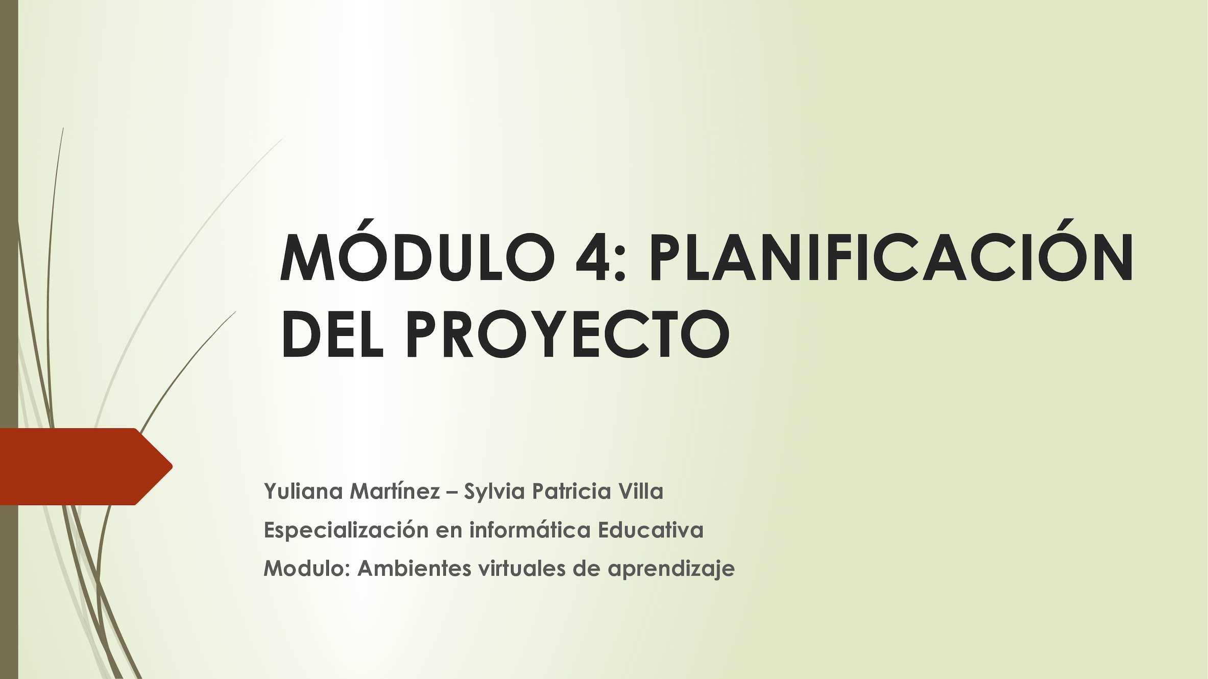 Calaméo Modulo 4 Planificación De Proyectos