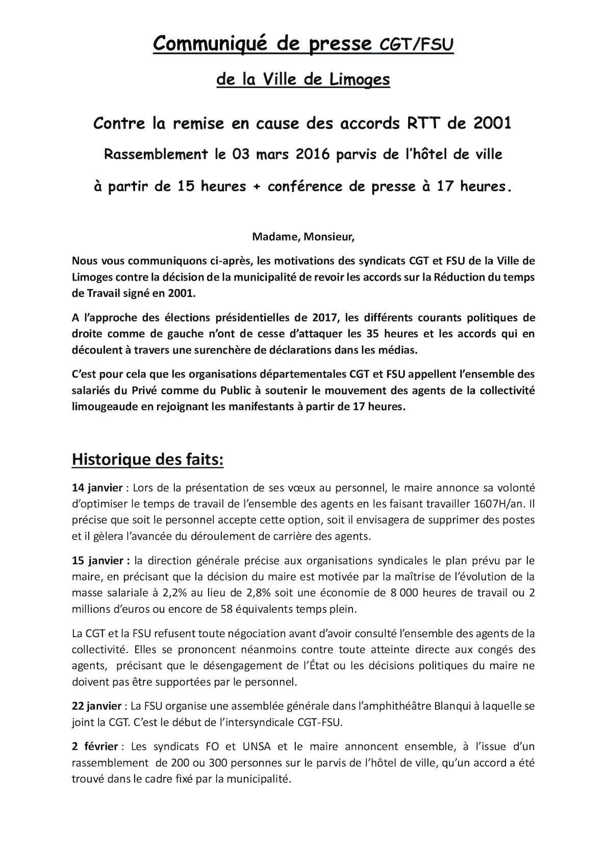Calameo Communique De Presse Cgt Fsu Greve Du 03mars2016