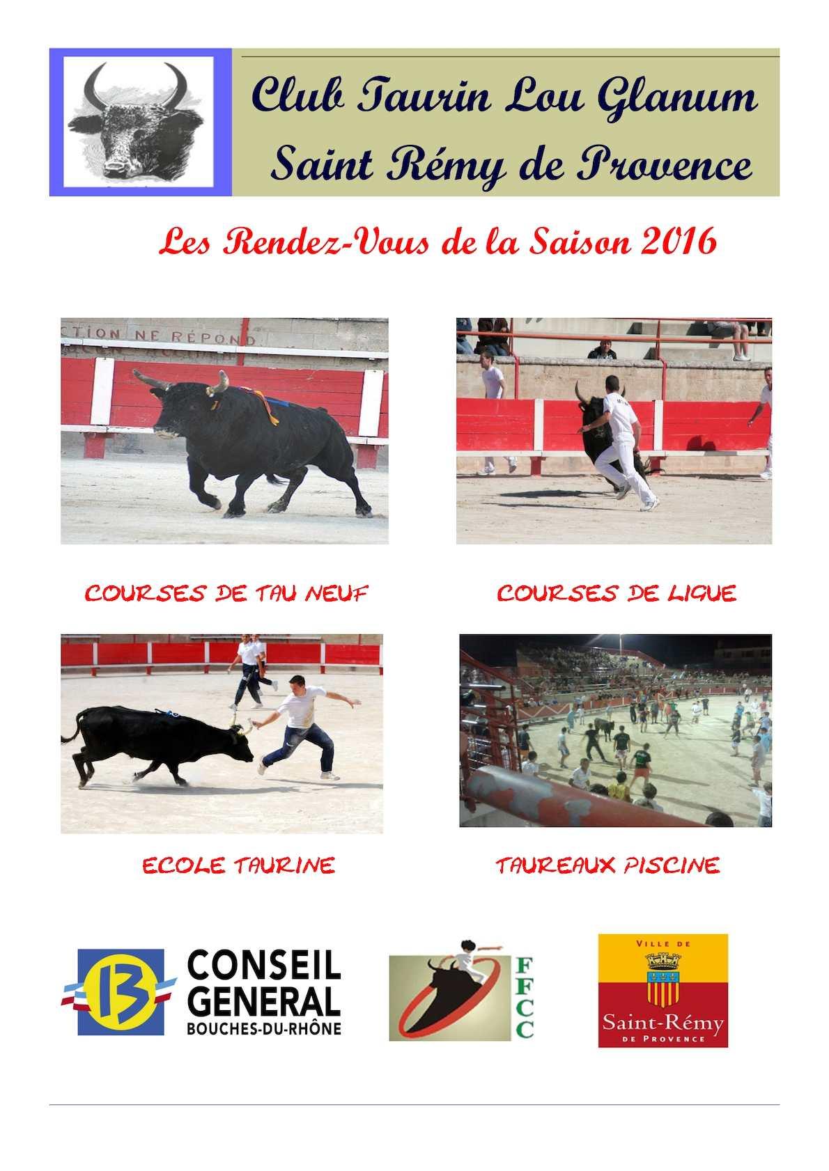 Ffcc Calendrier Des Courses Camarguaises.Calameo Calendrier 2016 Club Taurin Lou Glanum Arenes