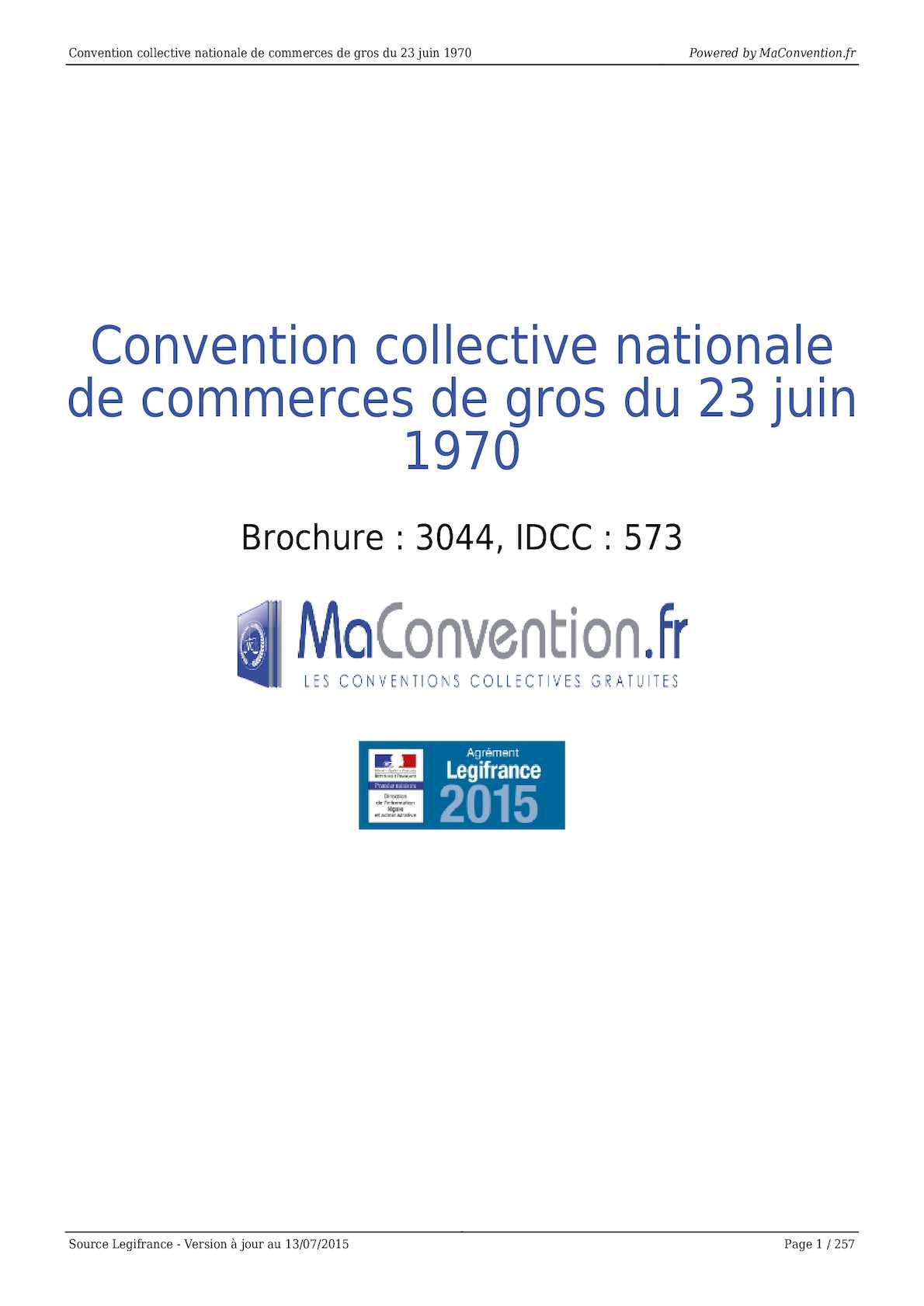 Calameo Convention Collective Nationale De Commerces De