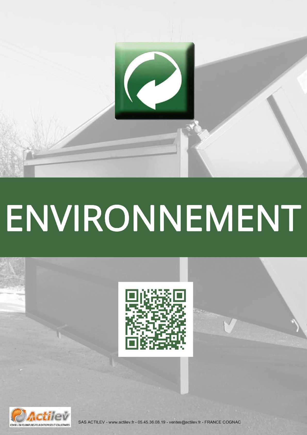 Place Tous les déchets dans des bacs fournis SIGNE 150 mm x 200 mm plastique rigide
