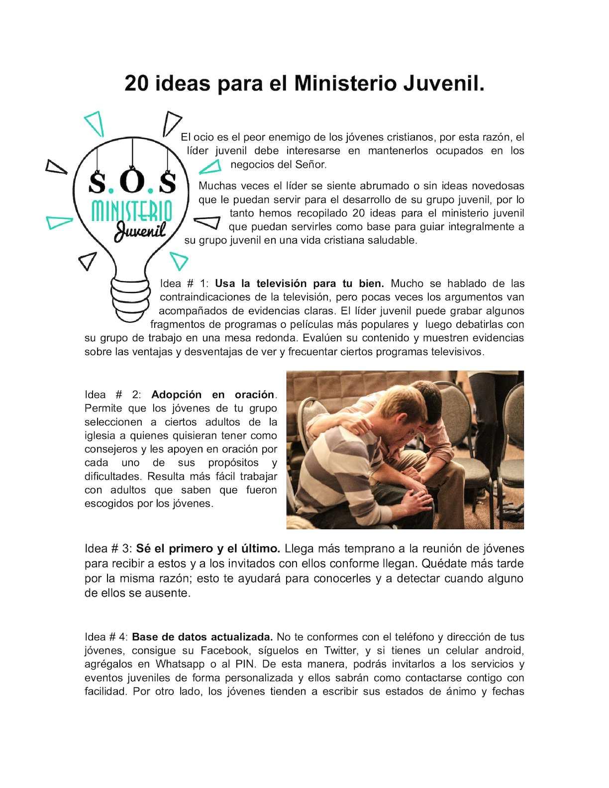 Calaméo 20 Ideas Para El Ministerio Juvenil
