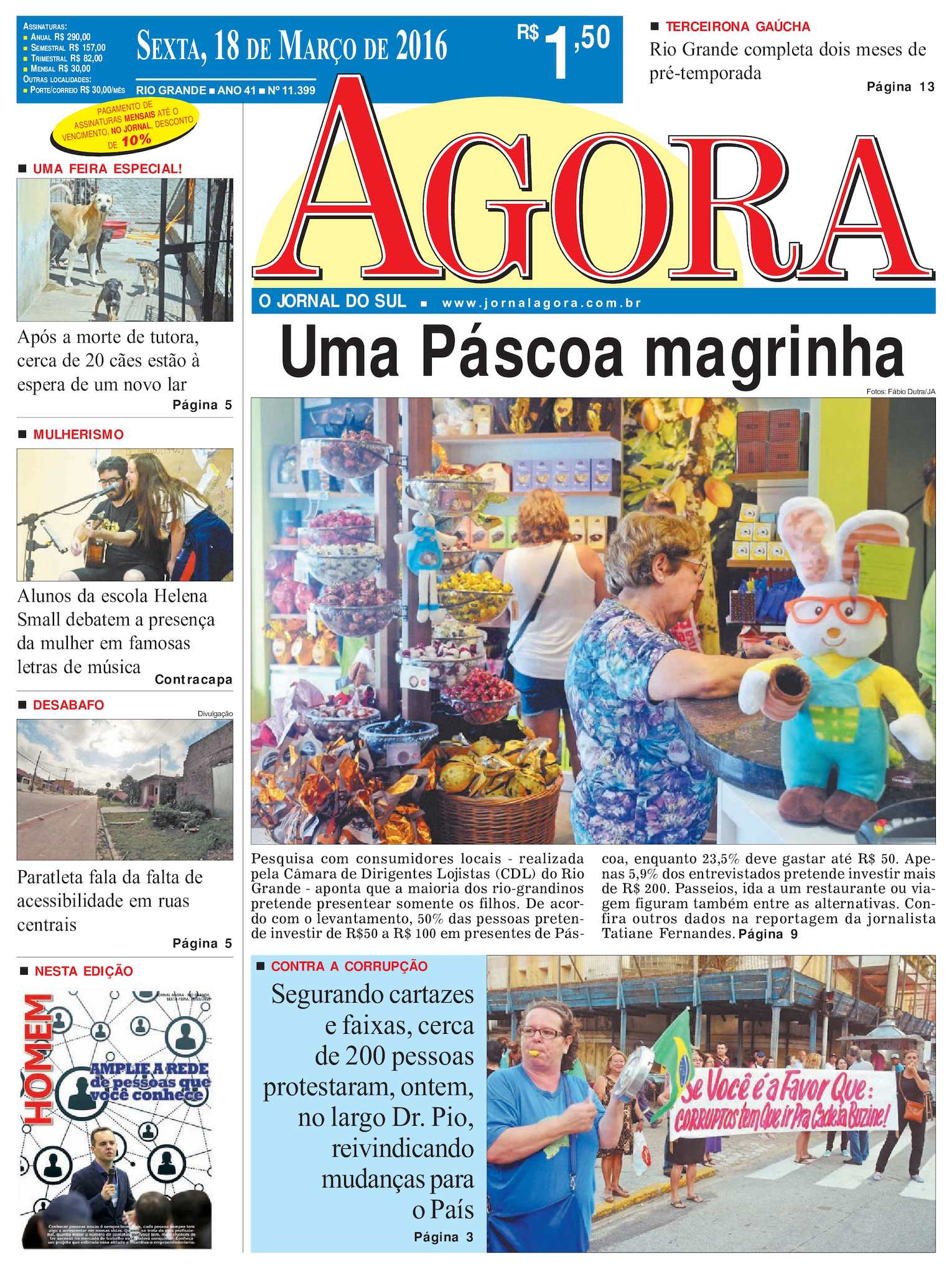 5e48d887f31 Calaméo - Jornal Agora - Edição 11399 - 18 de Março de 2016