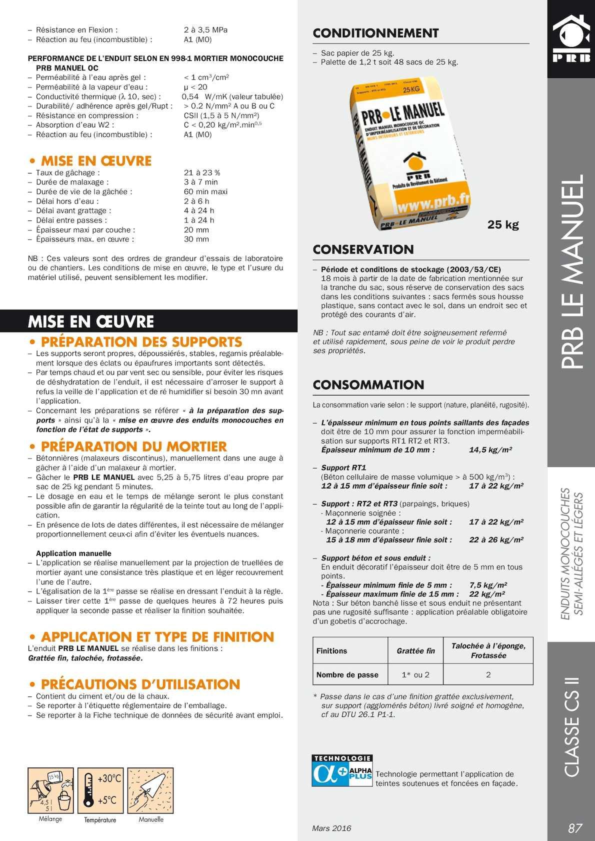 Epaisseur Enduit Sur Parpaing catalogue prb façadier - calameo downloader