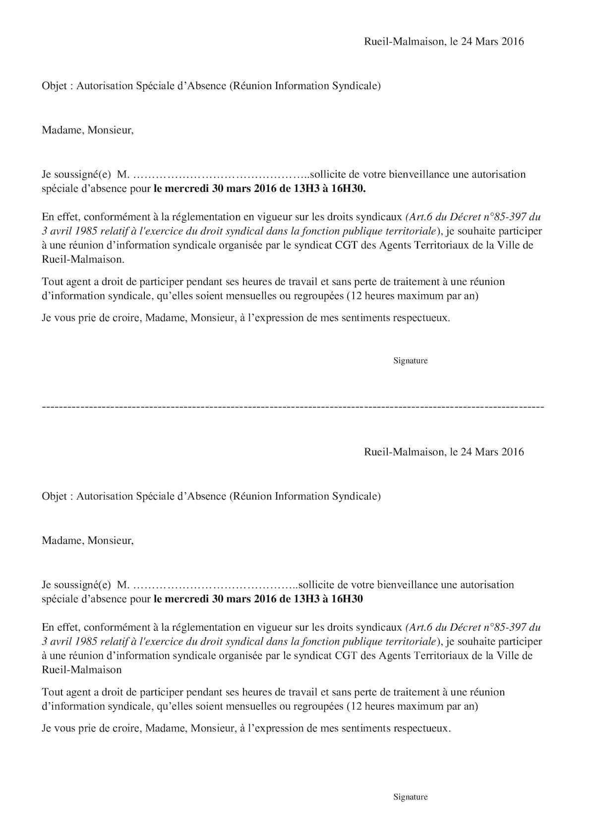 Calameo Modele Autorisation D Absence