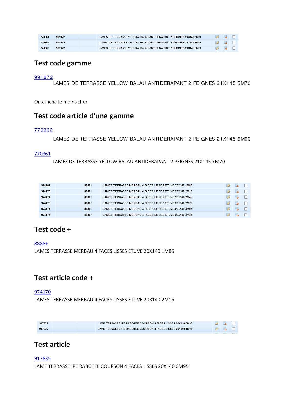 Calaméo Test Code Gamme