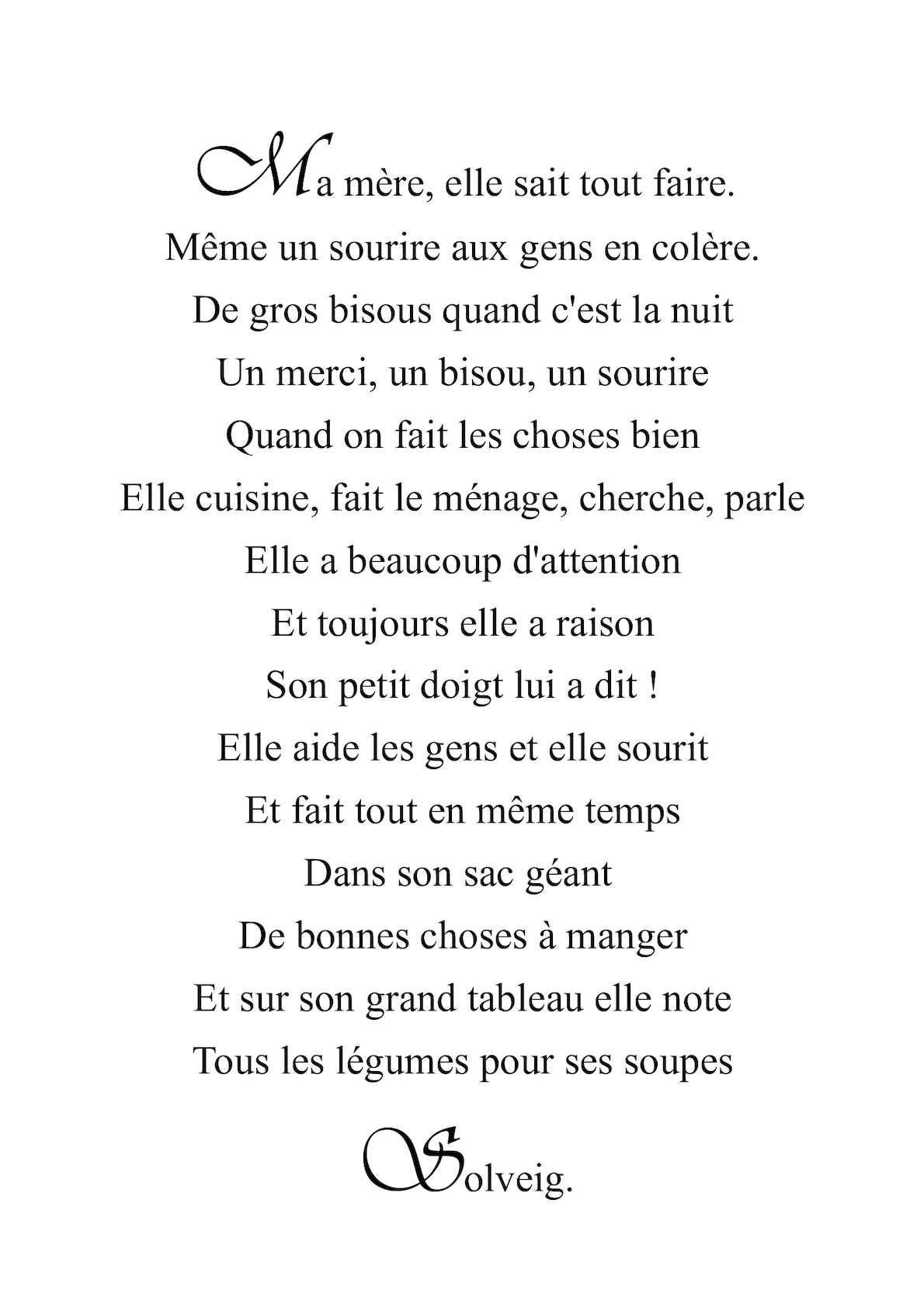 Calaméo Ma Mère Tout Un Poème Productions