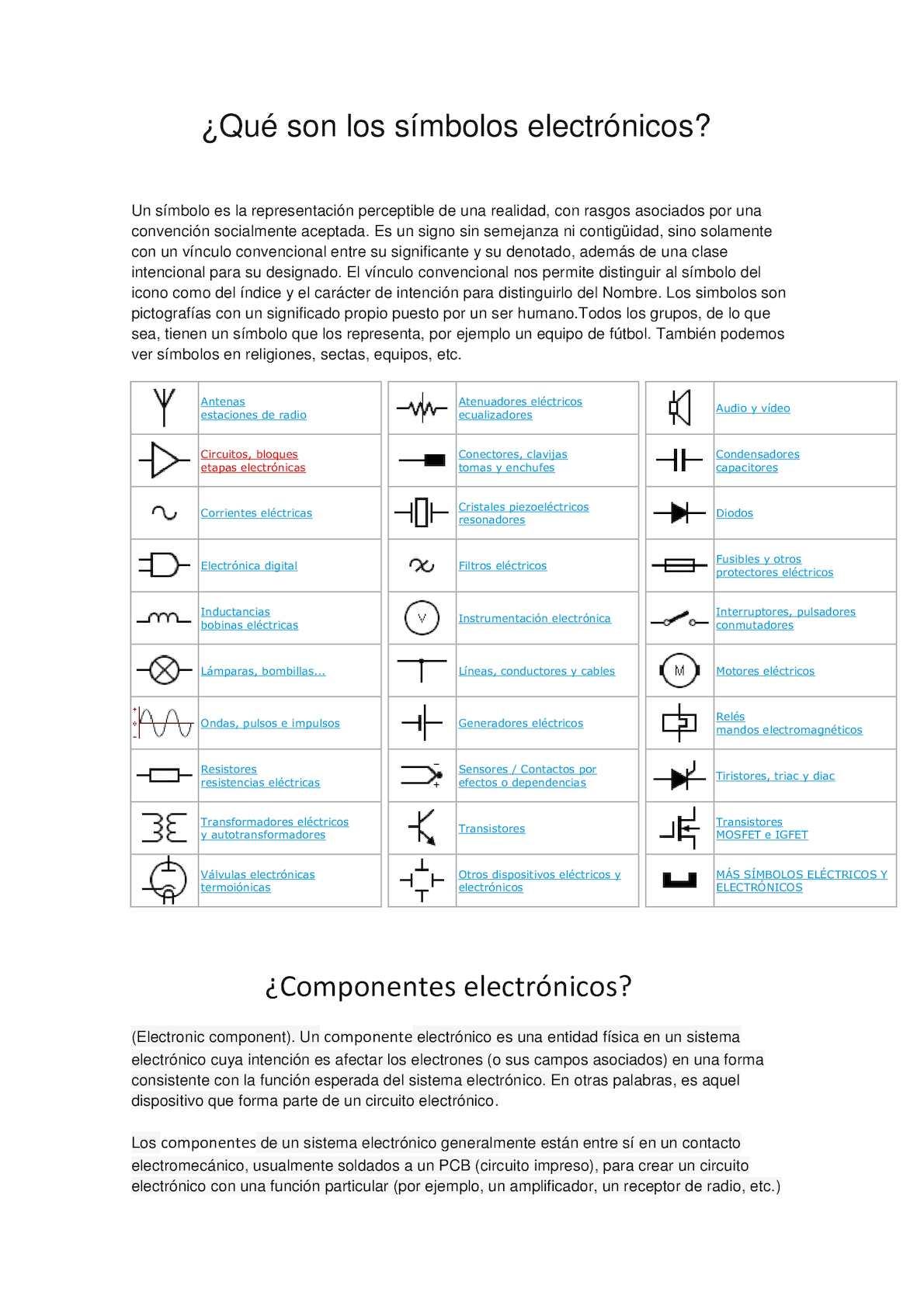 Símbolo vía electrica
