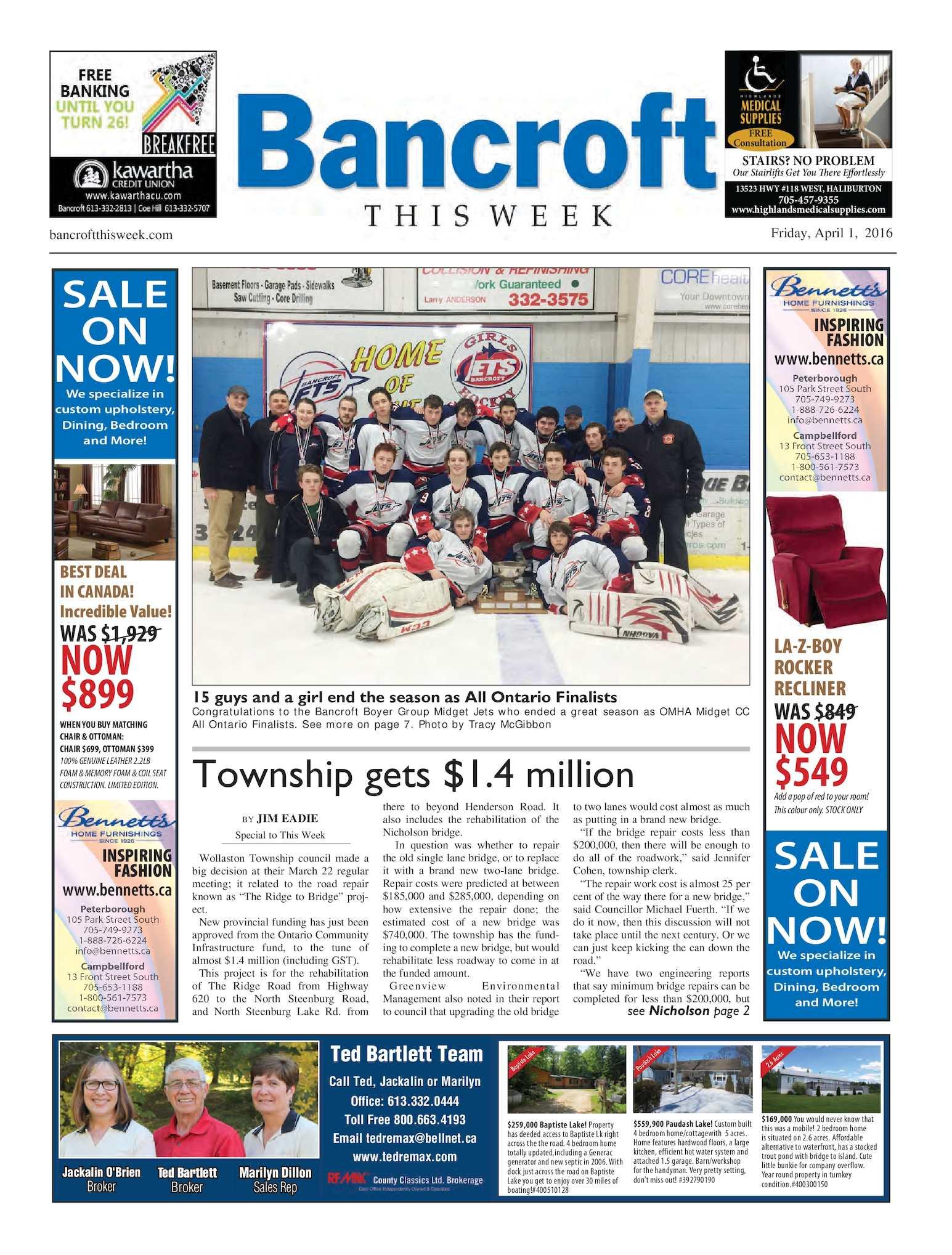 Calaméo - Bancroft This Week April 1, 2016
