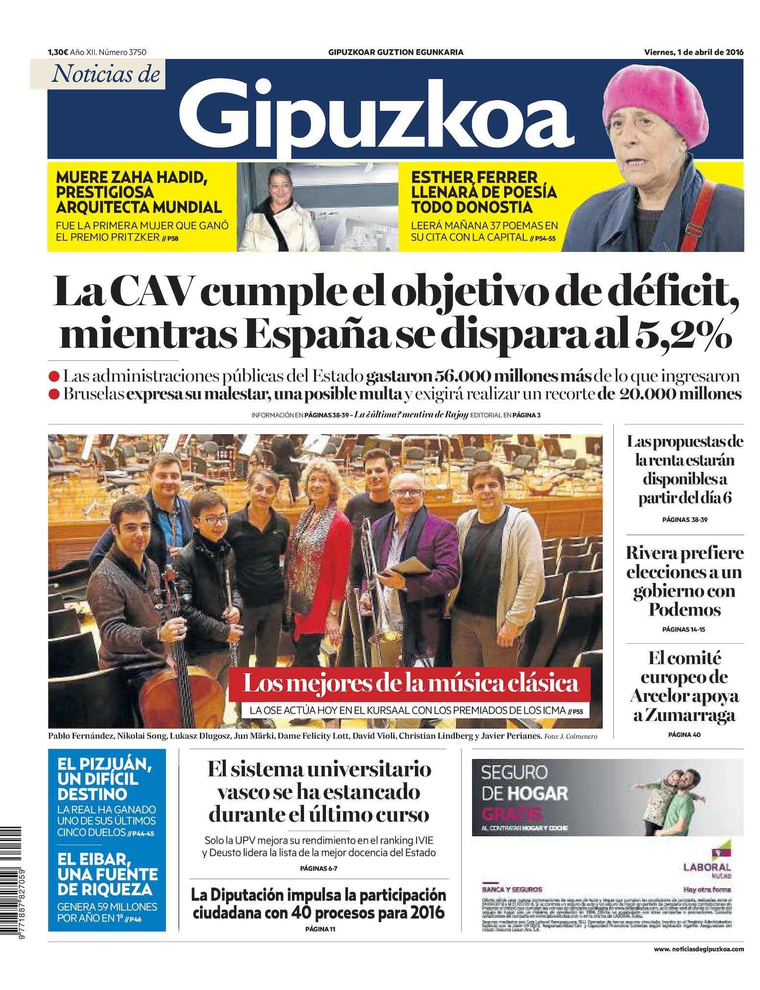 Calaméo Noticias De Gipuzkoa 20160401