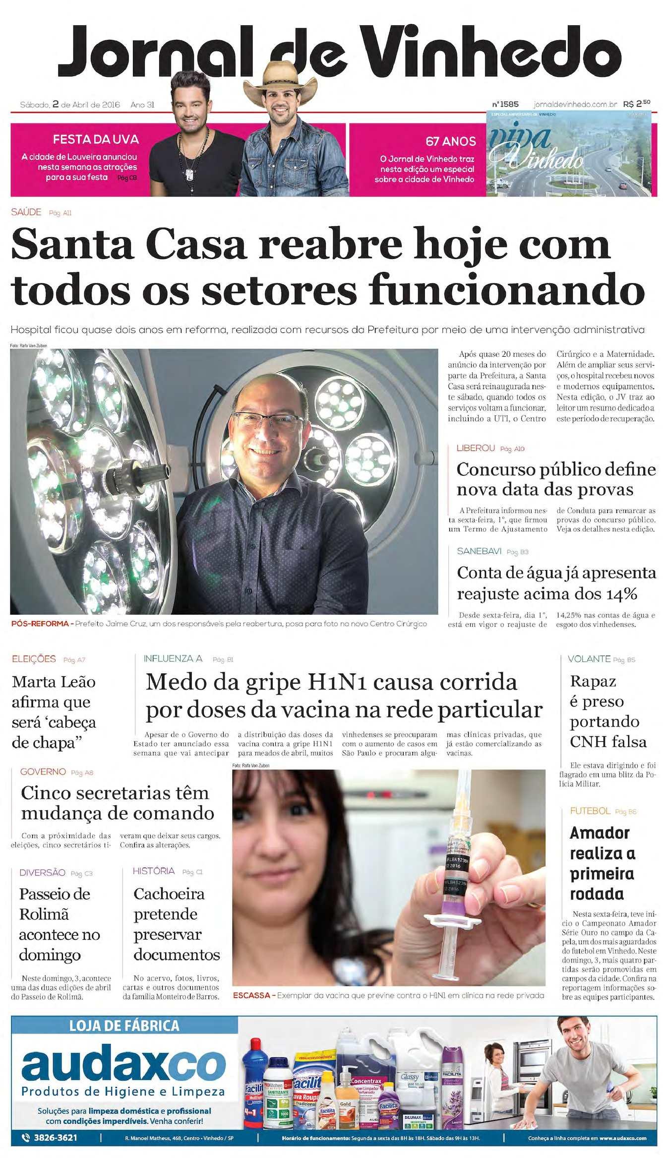 Calaméo - Jornal De Vinhedo Sabado 02 De Abril De 2016 Edic 1585 Ok bf9f7a9a8c