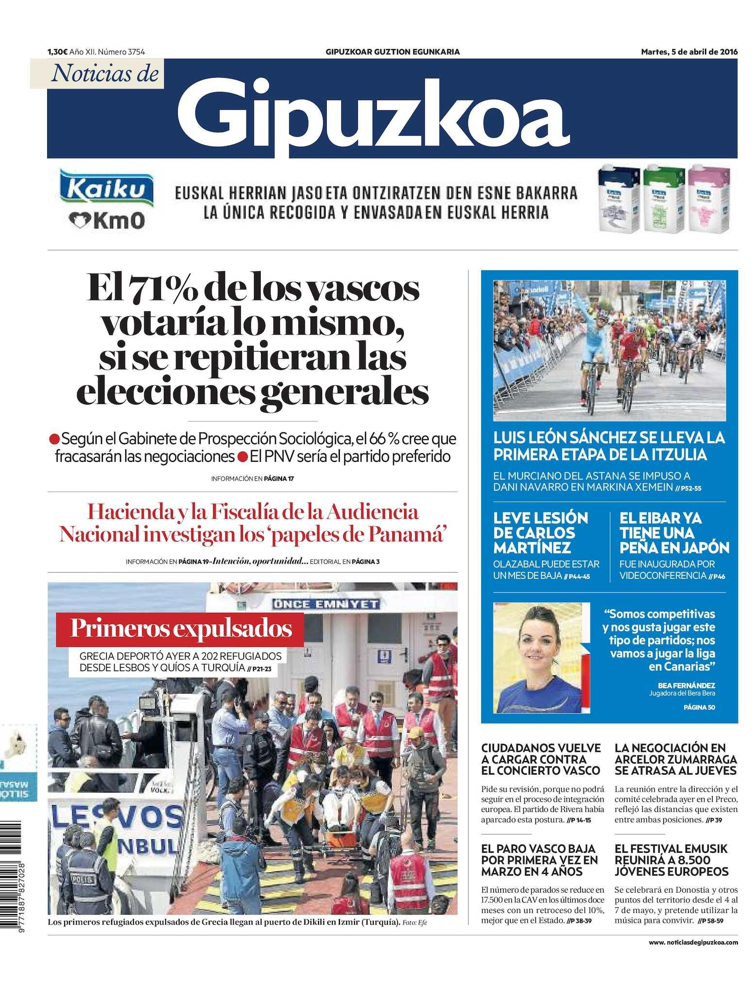 24ae98dd07 Calaméo - Noticias de Gipuzkoa 20160405