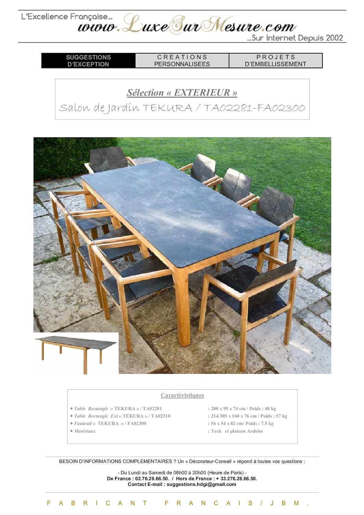 Calaméo - salon jardin luxe bois FSC - salon jardin haut de ...