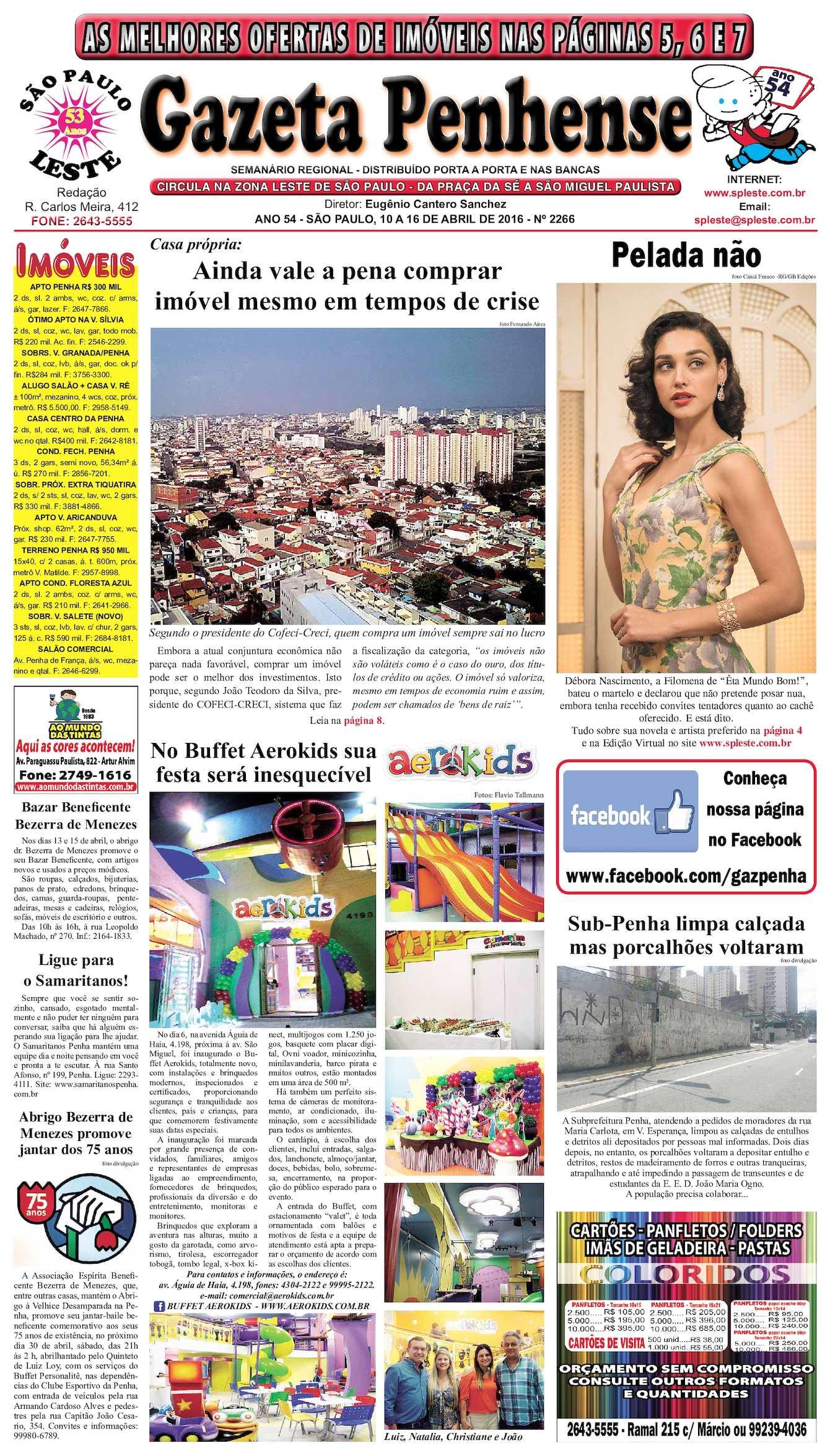 6754a72845e58 Calaméo - Gazeta Penhense - edição 2266 - 10 a 16.04.16