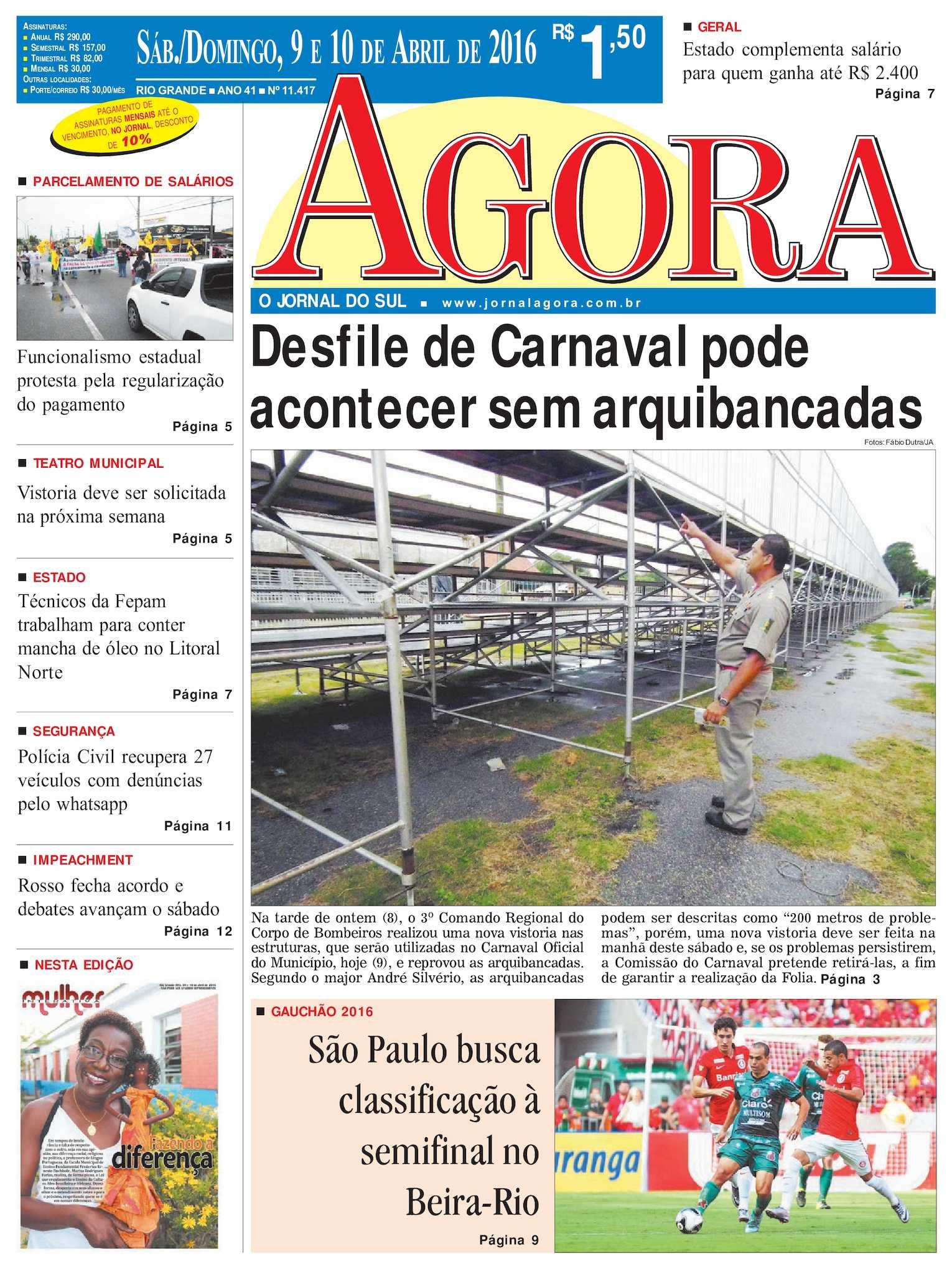 5946f91c1acc7 Calaméo - Jornal Agora - Edição 11417 - 9 e 10 de Abril de 2016