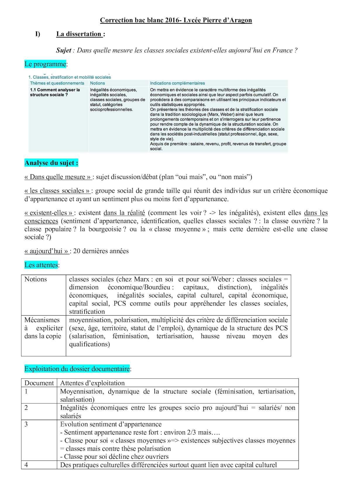 dissertation classes stratification et mobilité sociales