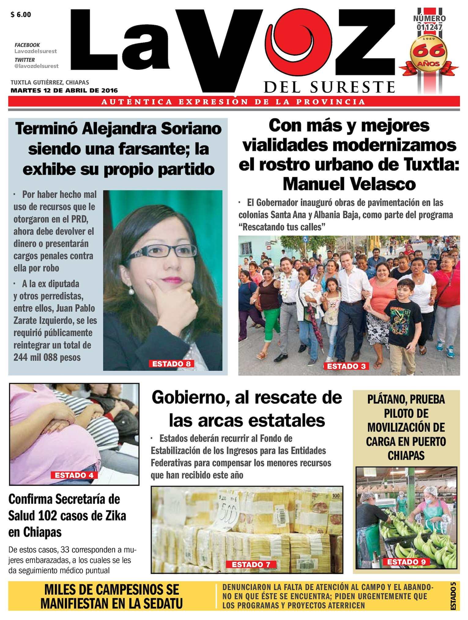 37ae17e662 Calaméo - Diario La Voz del Sureste