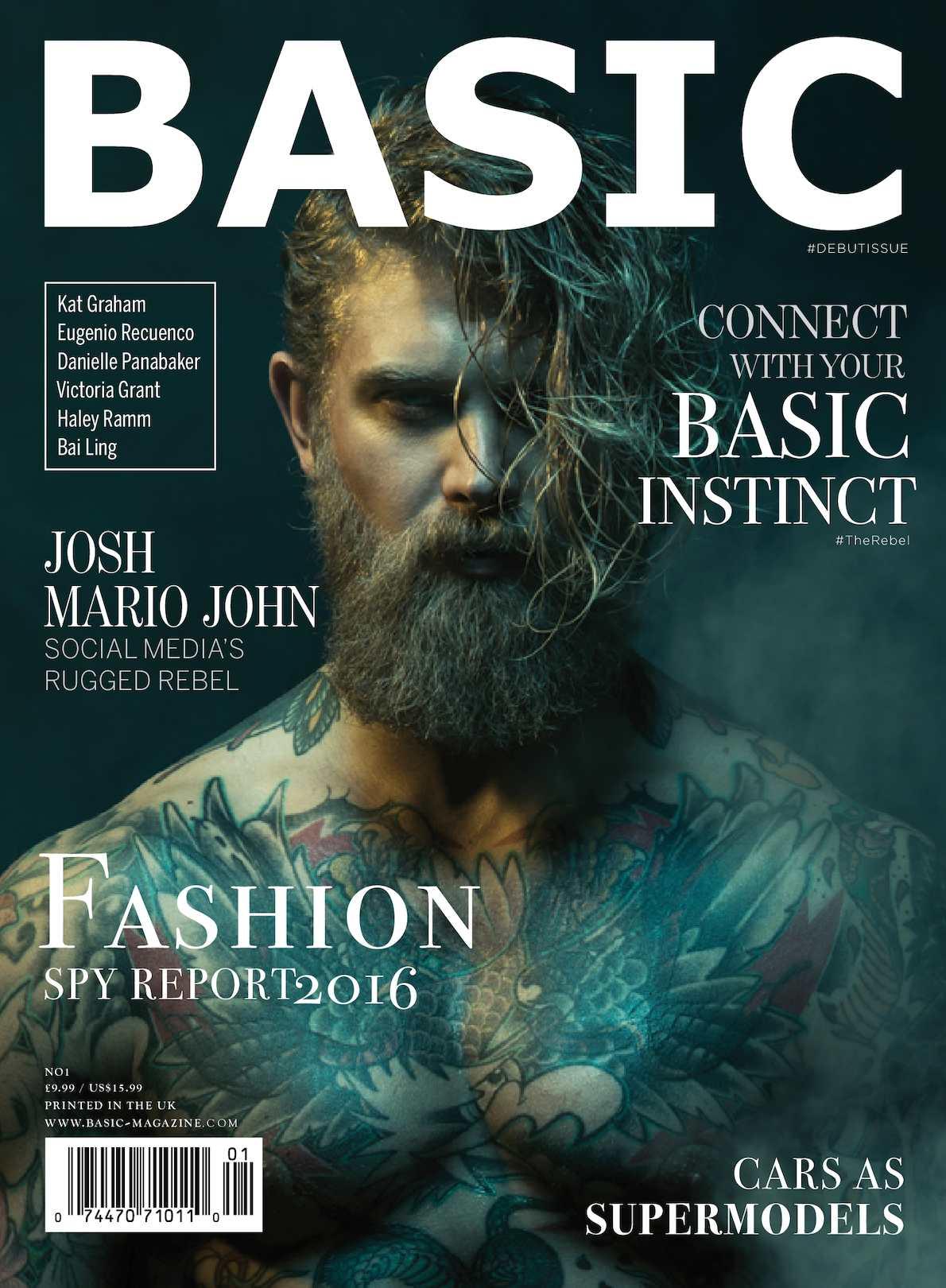 Anastasia Acosta Sexy calaméo - basic magazine debut issue cover 1