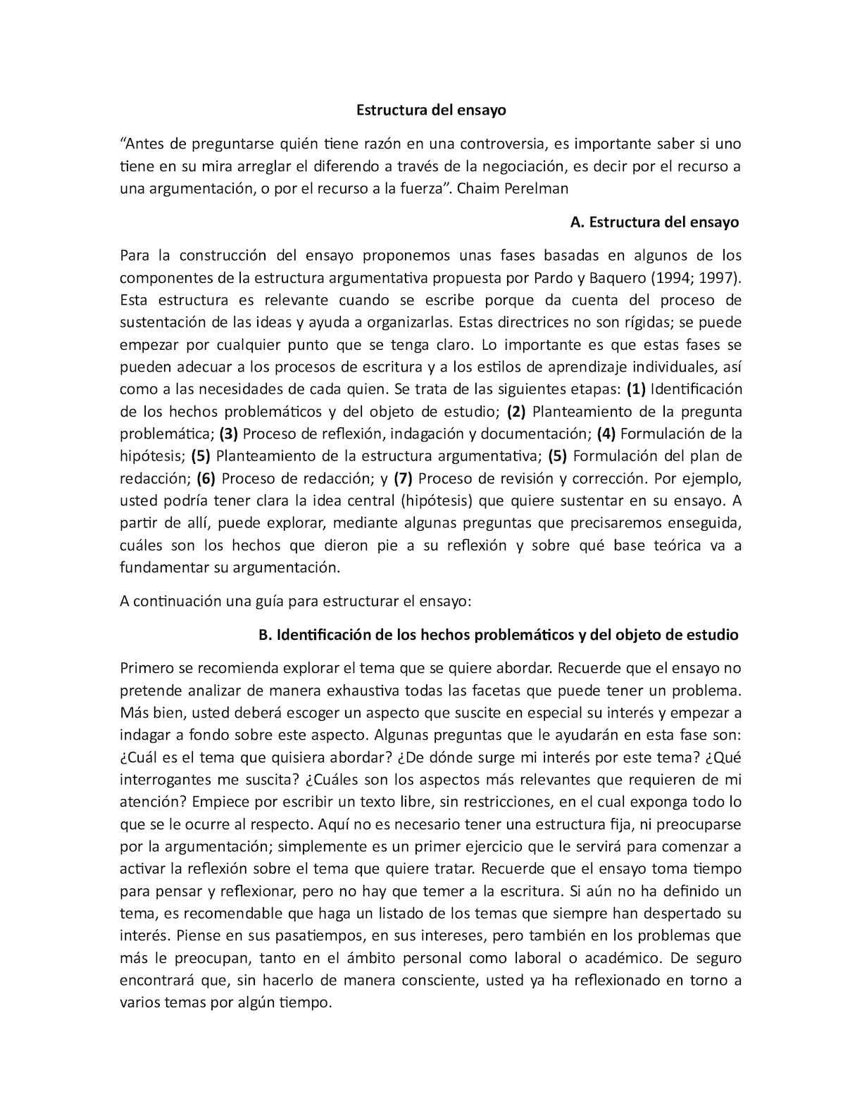 Calaméo Estructura Del Ensayo