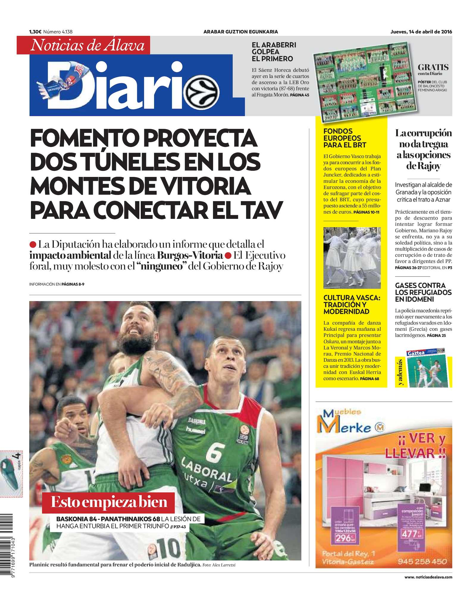 Diario Noticias Álava 20160414 Calaméo De eCxBdro