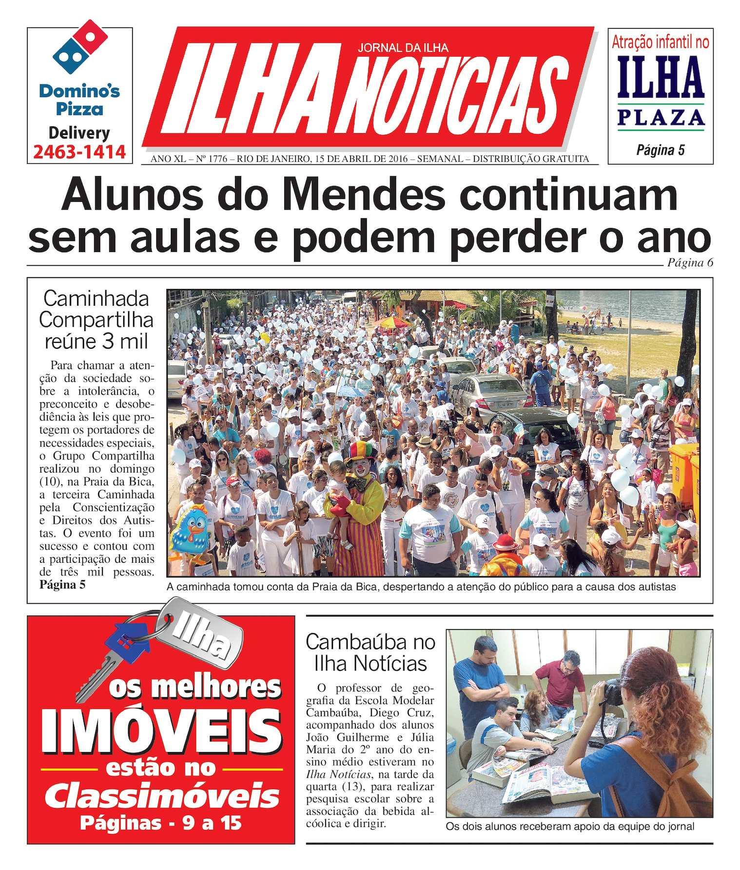 Jornal Ilha Notícias - Edição 1776 - 15/4/2016