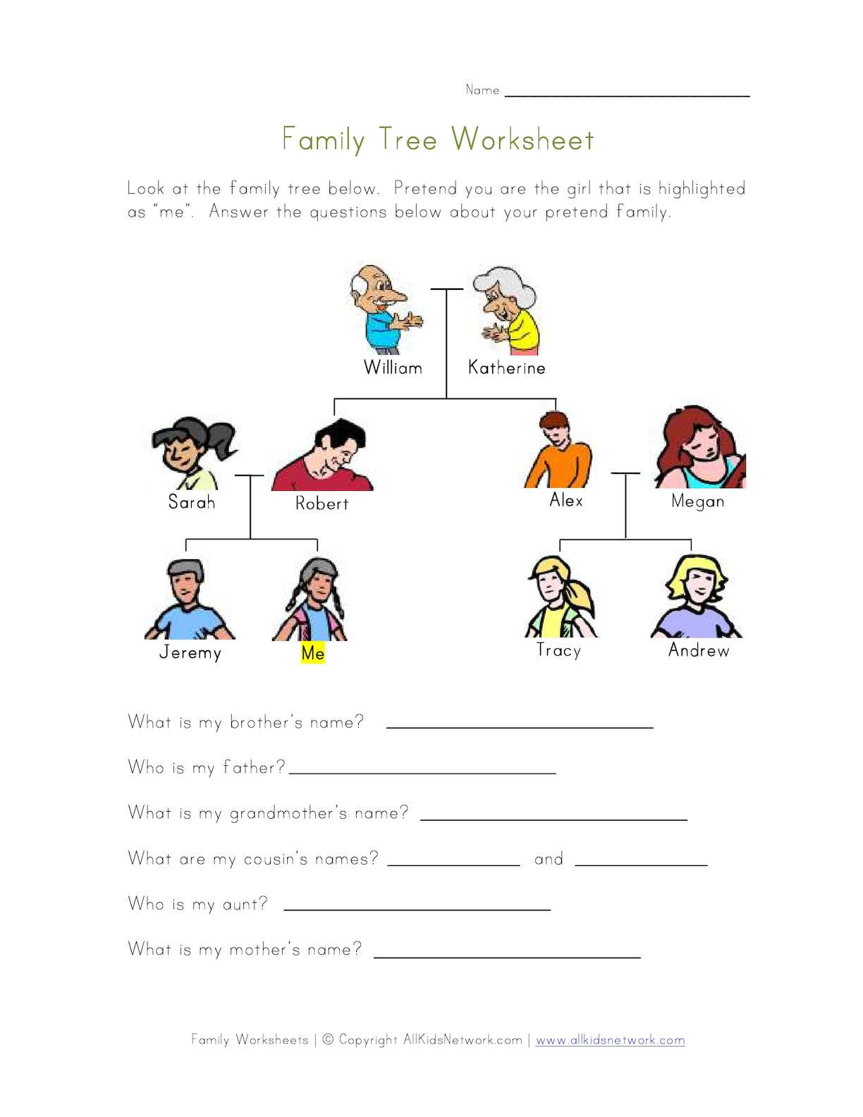 Calaméo - Family Tree Worksheet