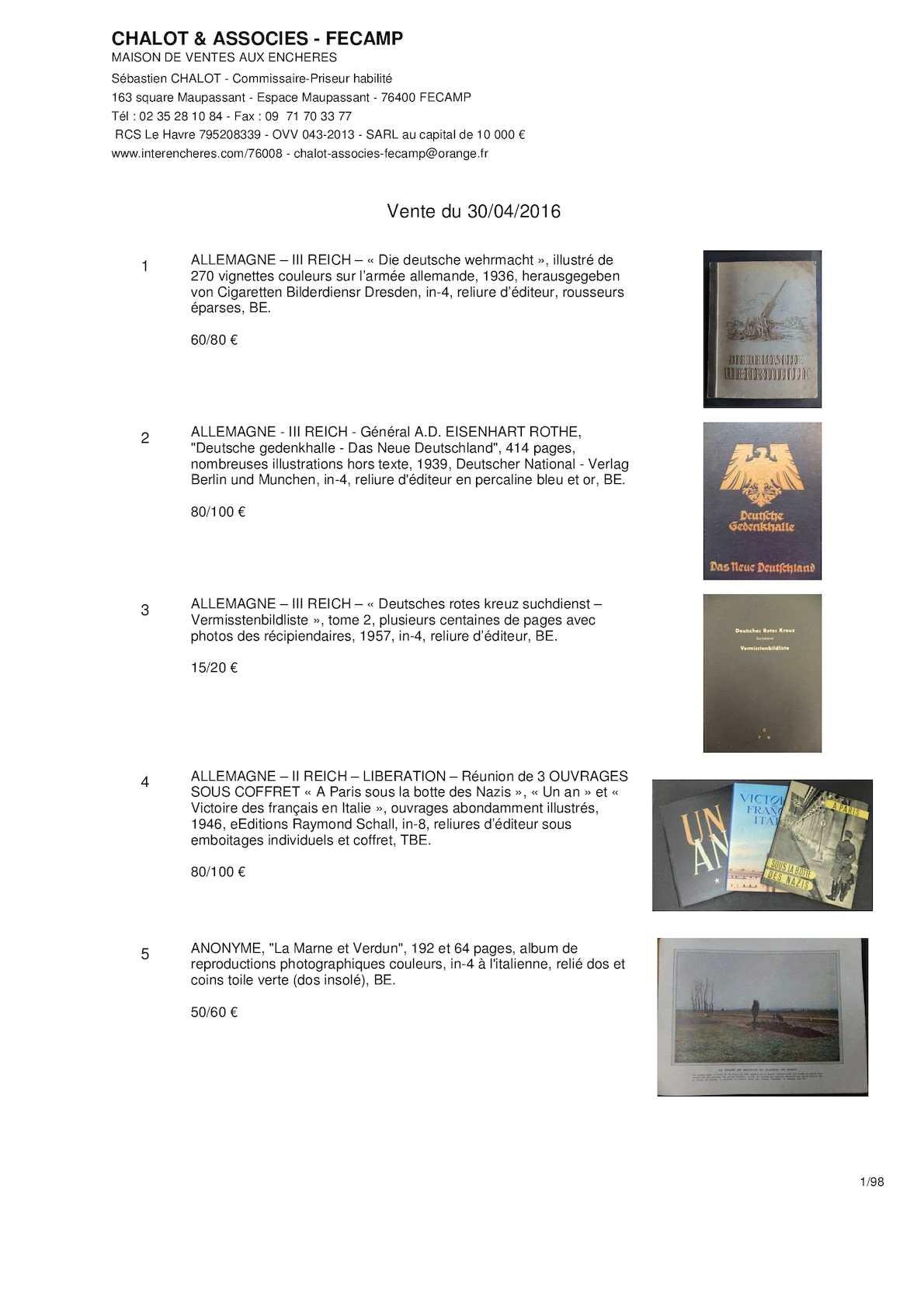 bca0fed488 Calaméo - VENTE ARMES ANCIENNES & SOUVENIRS HISTORIQUES - CHASSE & VENERIE  - SAMEDI 30 AVRIL 2016 - CHALOTS & ASSOCIES - FECAMP - FRANCIS LOISEL EXPERT