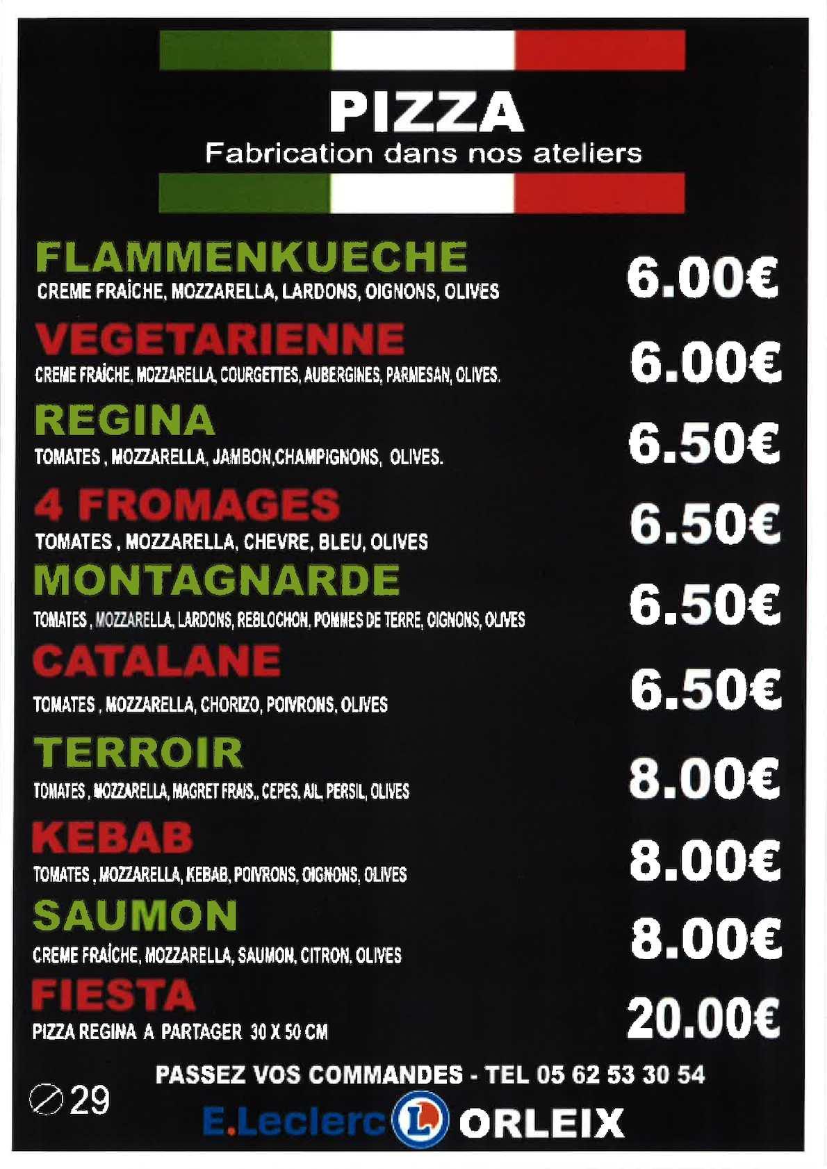 Calameo Carte Pizza