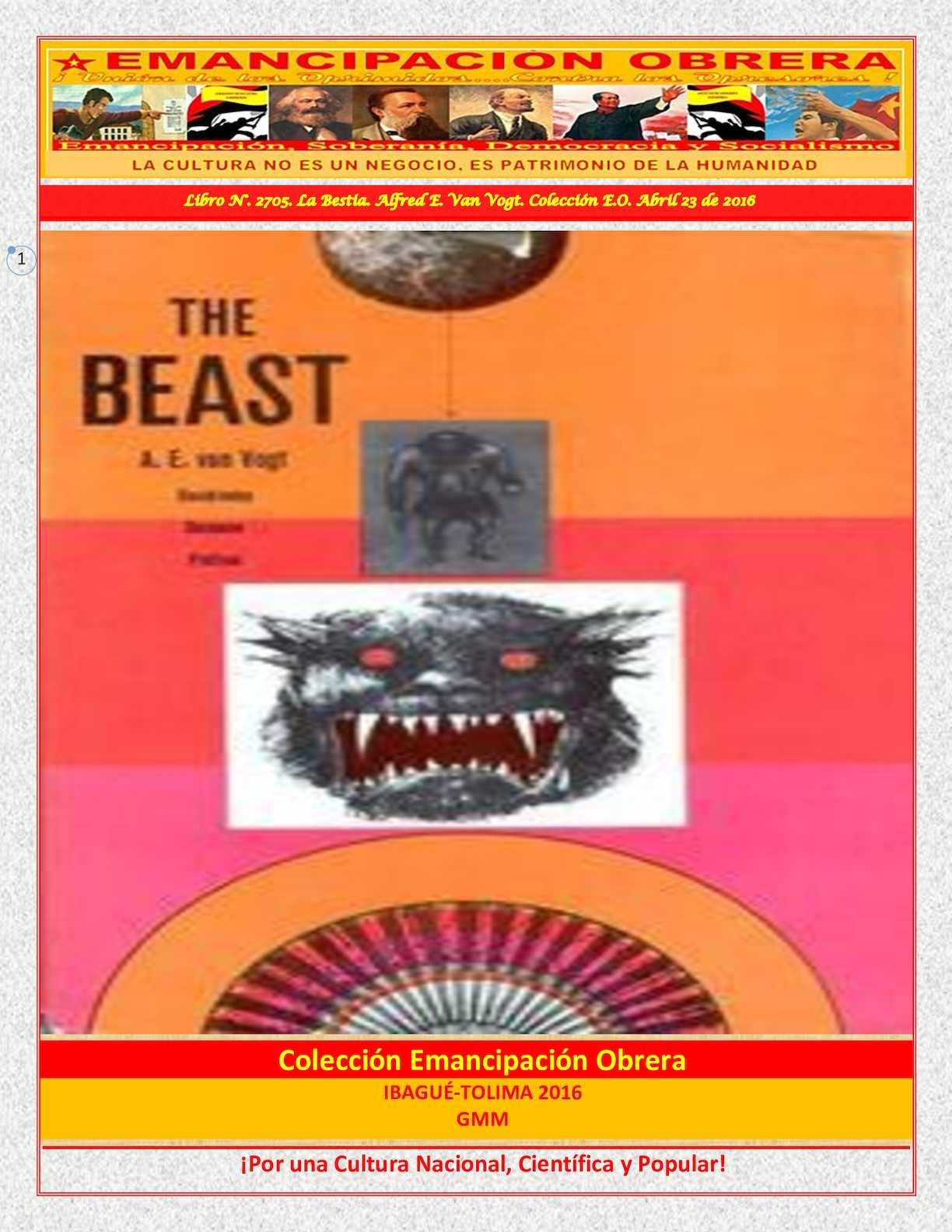 Calaméo - Libro N° 2705 La Bestia Alfred E Van Vogt Colección E O Abril 23  De 2016