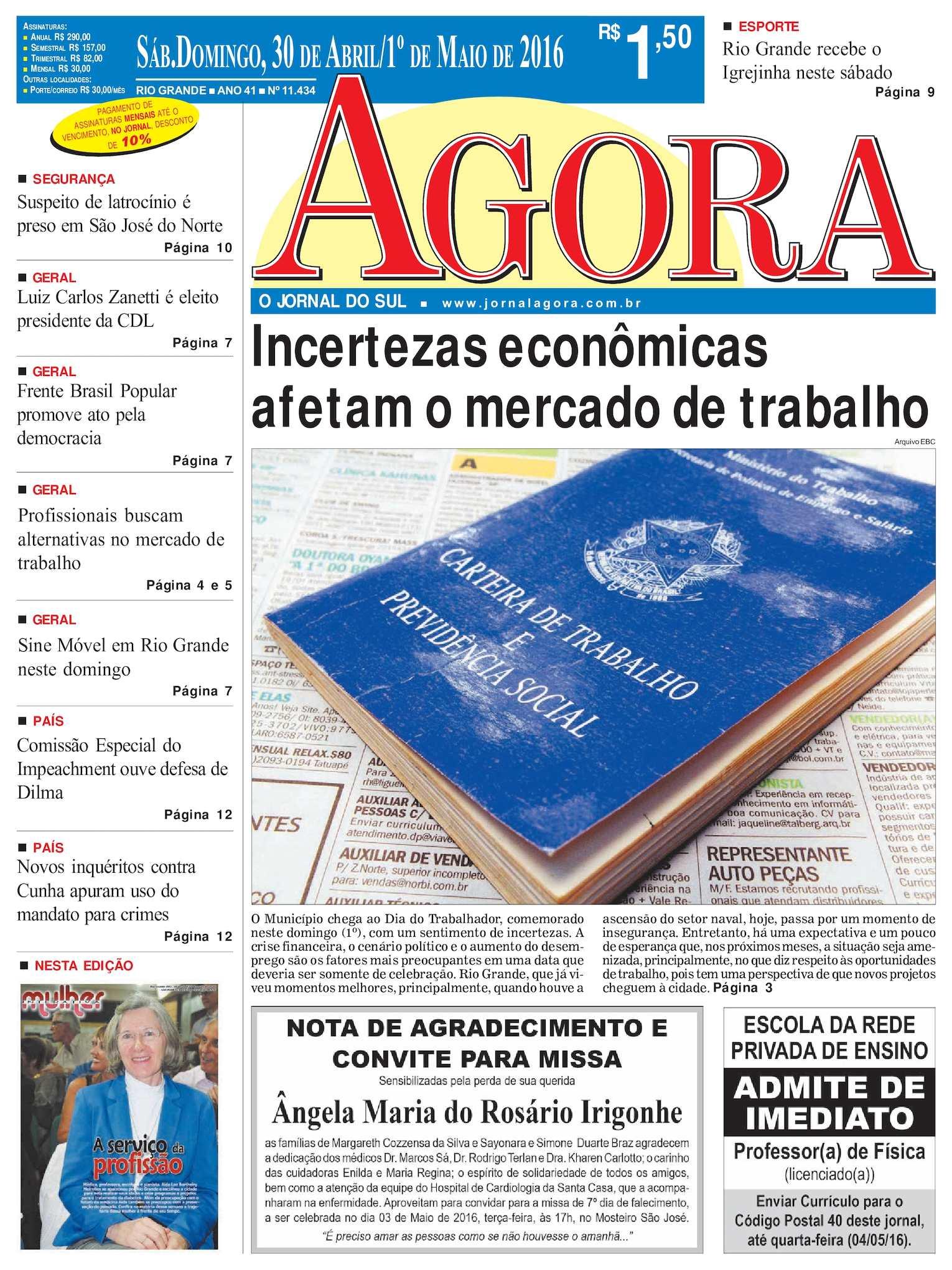 Calaméo - Jornal Agora - Edição 11434 - 30 de Abril e 1º de Maio de 2016 2c9336257da45