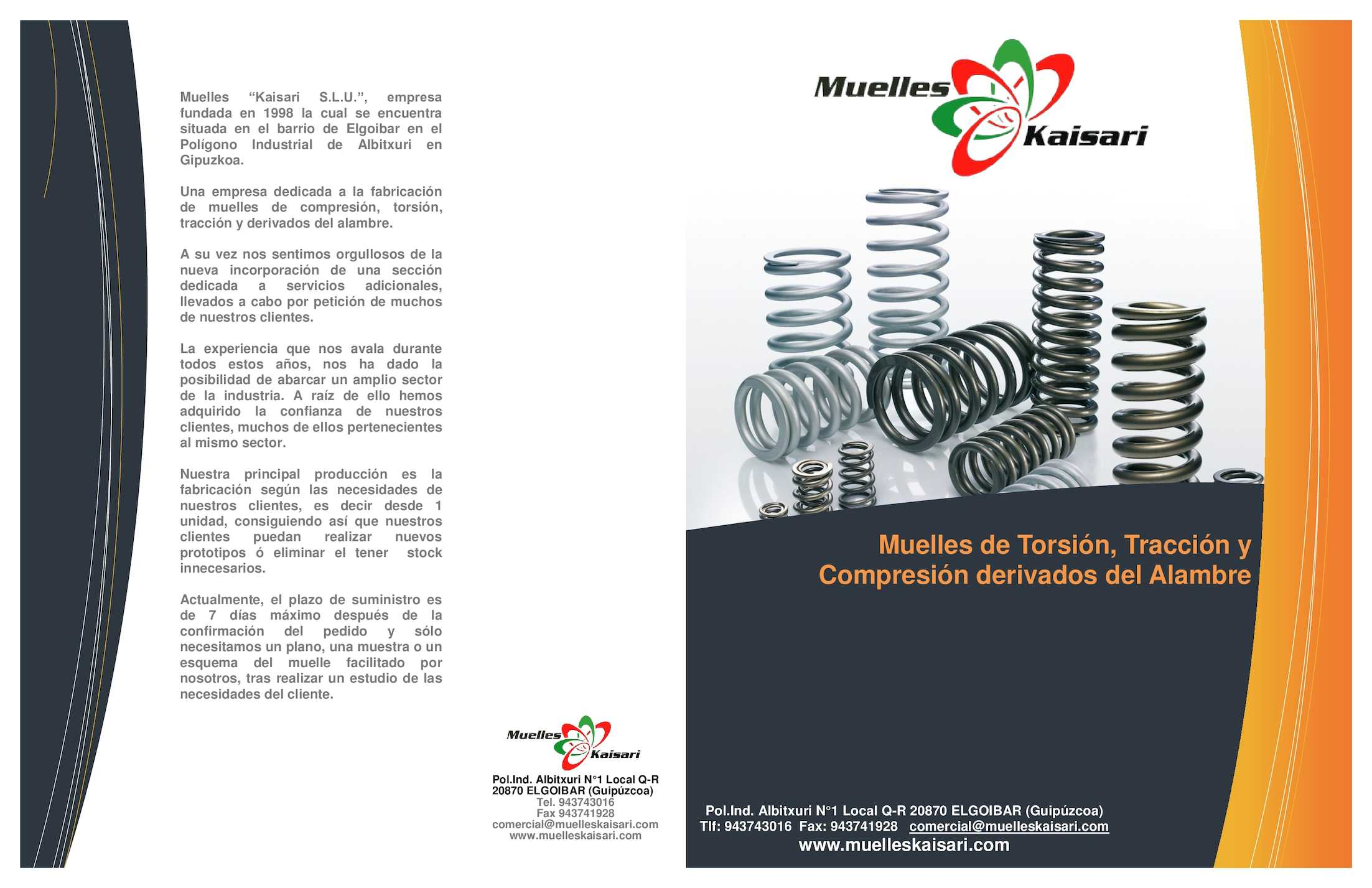 Resorte de torsion catalogo