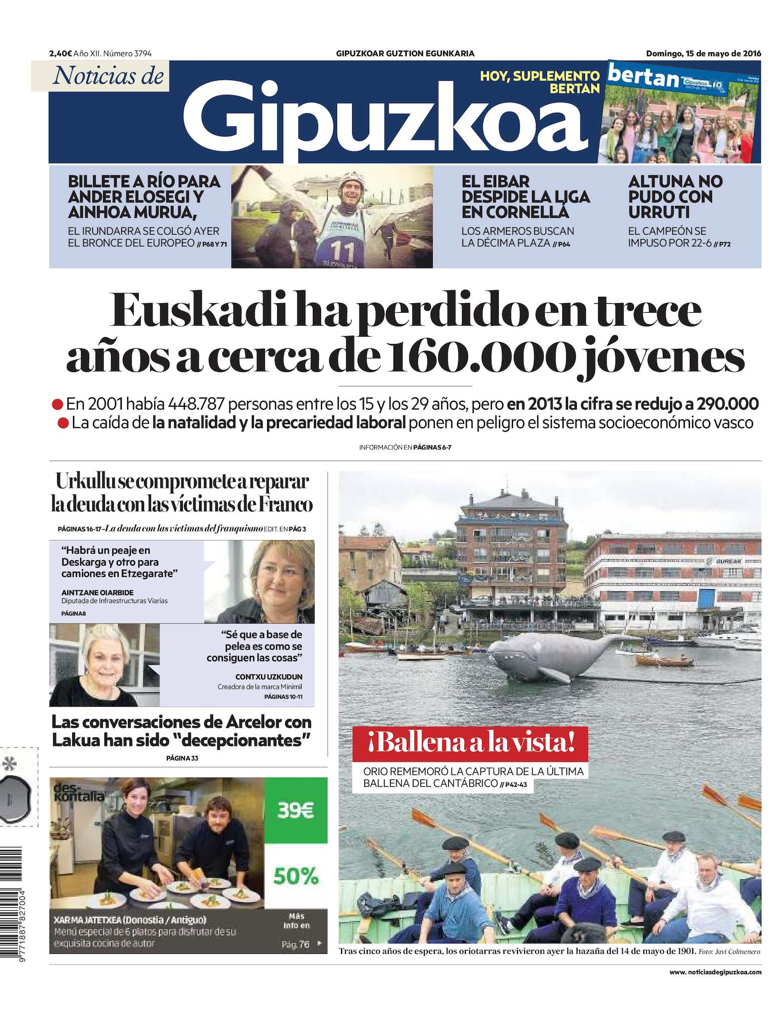 d7ea2e4fba Calaméo - Noticias de Gipuzkoa 20160515