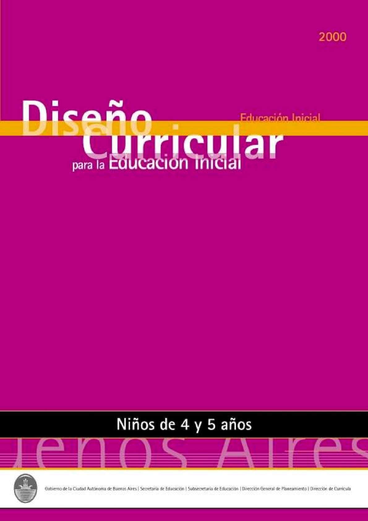 83b48cd82 Calaméo - Diseño Curricular Para La Educacion Inicial Sala De 4 Y 5 Años