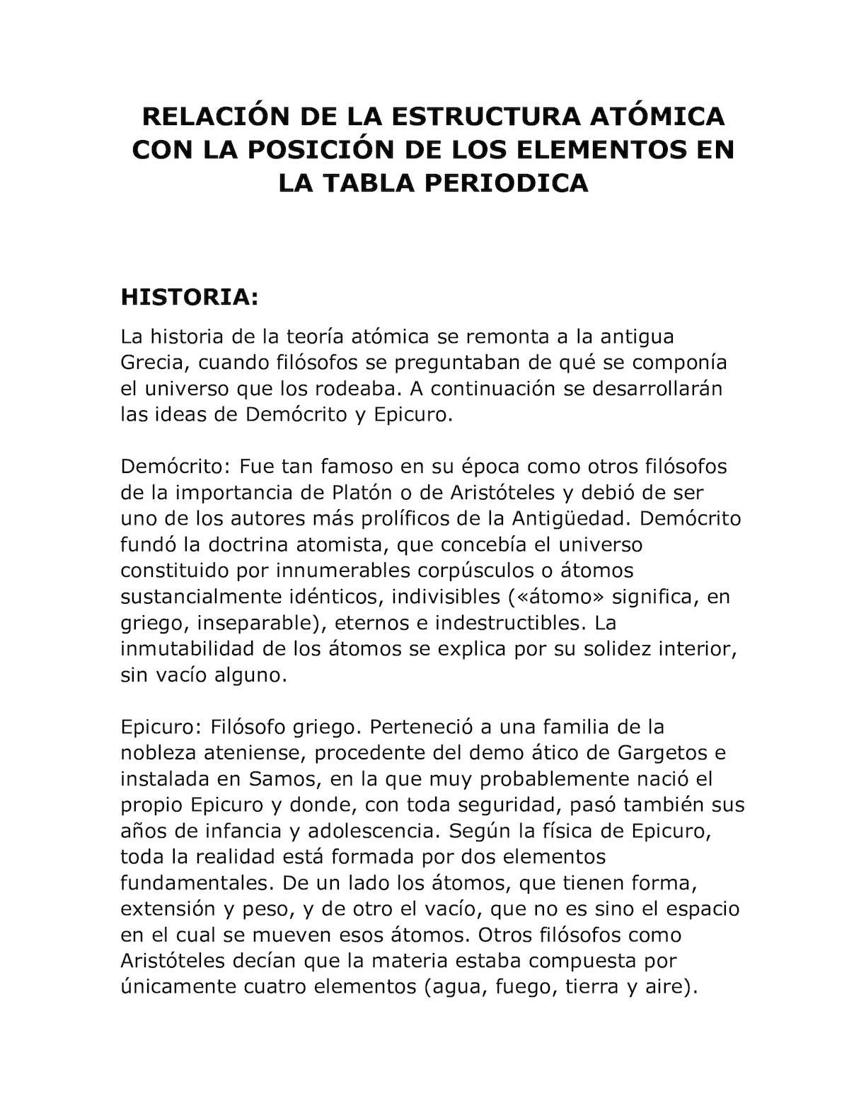 Calaméo Relación De La Estructura Atómica Con La Posición