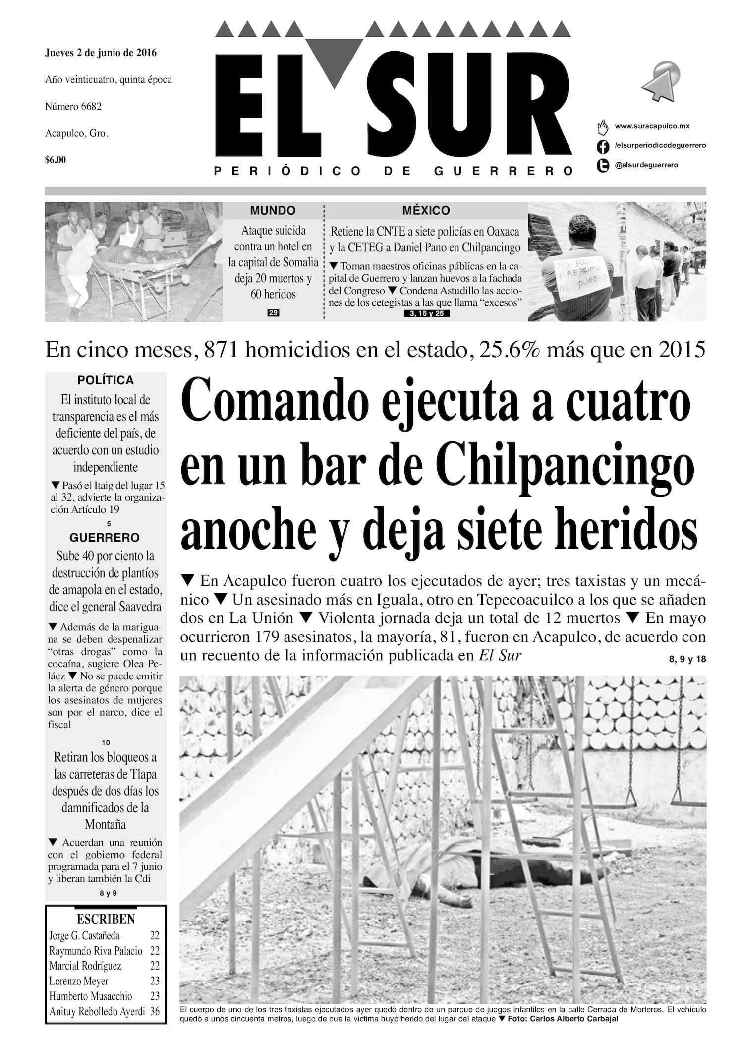 Calaméo - El Sur Jueves 02062016 011afb938a99