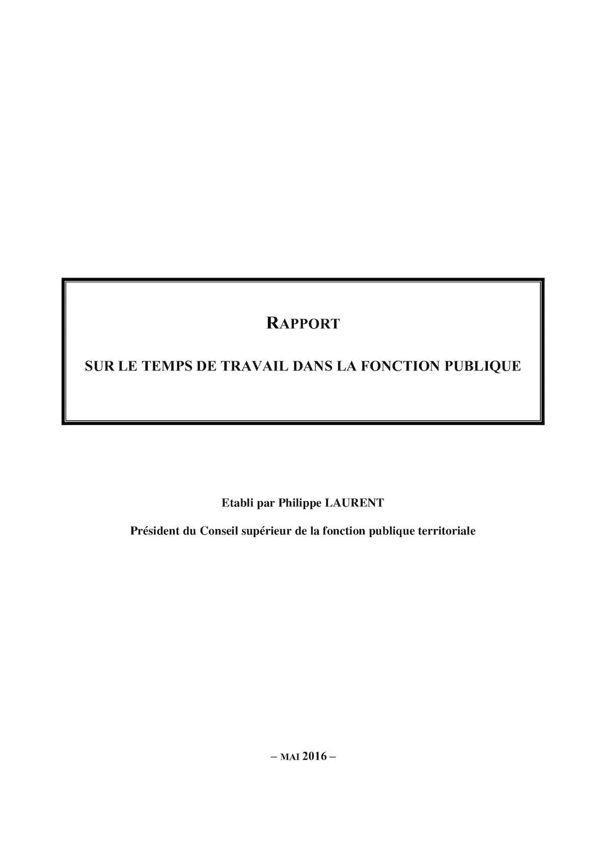 5c33e5a1bbc Calaméo - Rapport sur le temps de travail dans la fonction publique
