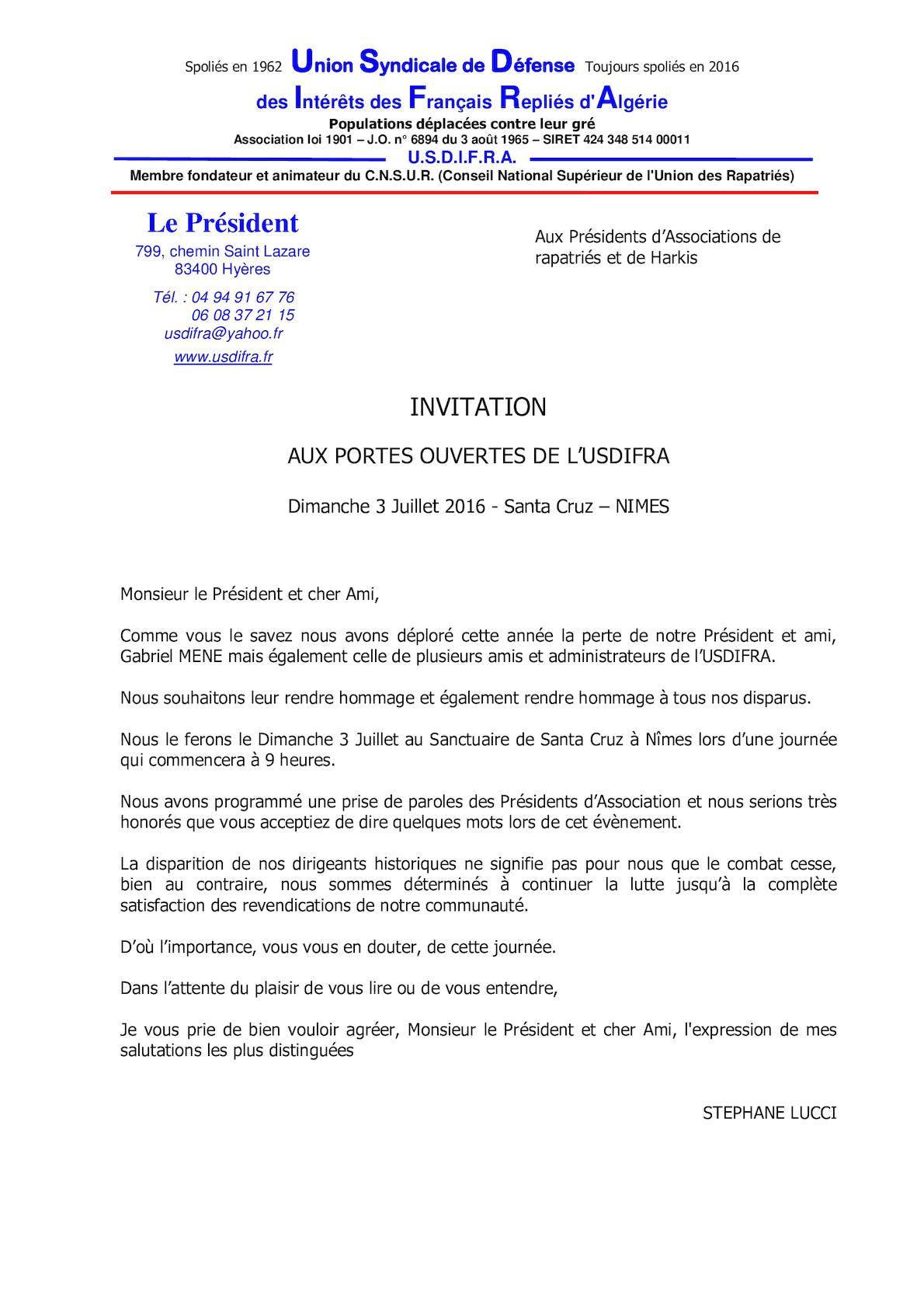 Calameo Invitation Aux Presidents Des Association