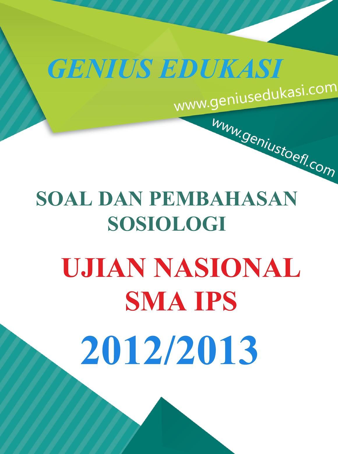 Calaméo Soal Dan Pembahasan Un Sosiologi Sma Ips 2012 2013